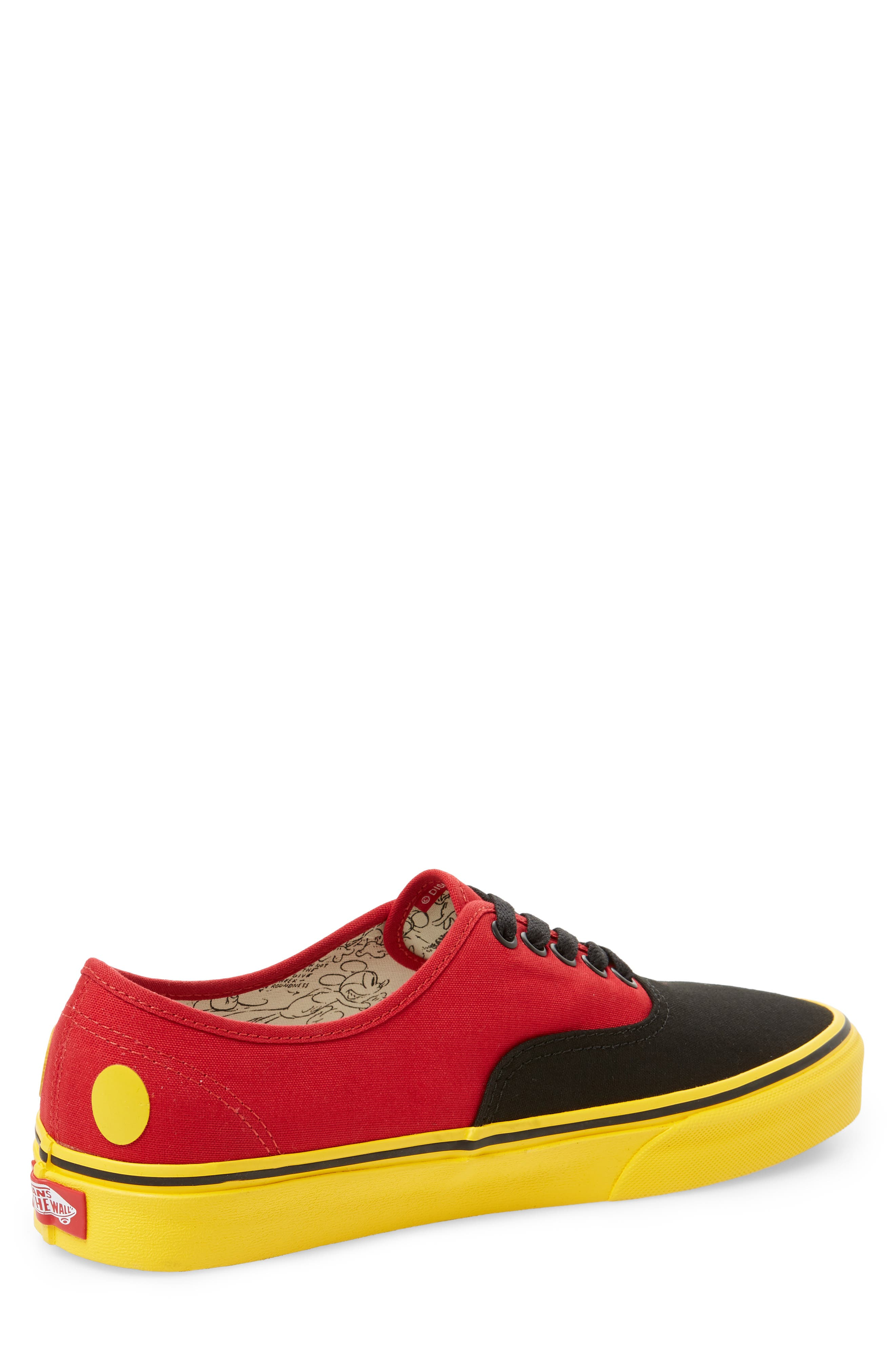 x Disney<sup>®</sup> Authentic Low Top Sneaker,                             Alternate thumbnail 2, color,                             DISNEY MICKEY/ RED/ YELLOW