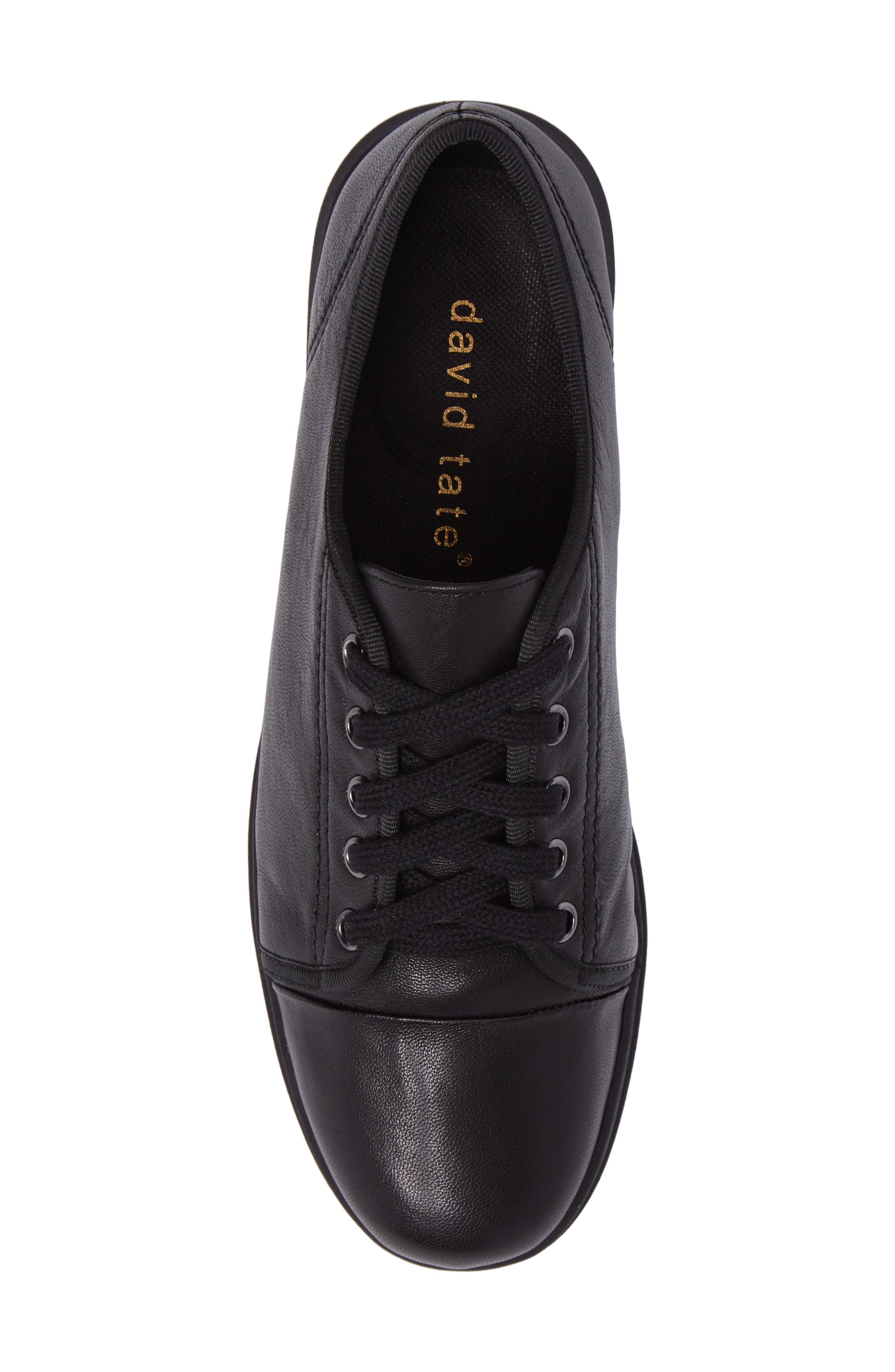 Siren Sneaker,                             Alternate thumbnail 5, color,                             BLACK LEATHER