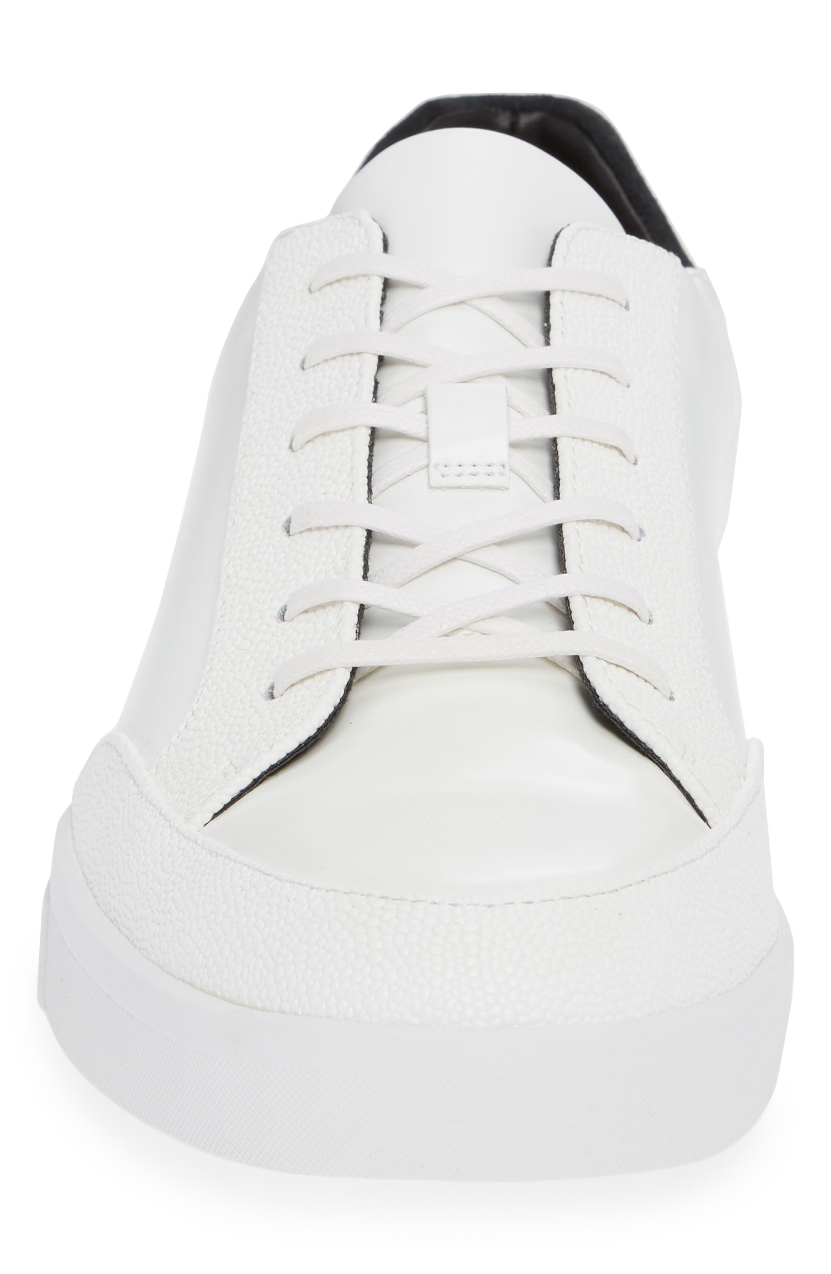 Izar Sneaker,                             Alternate thumbnail 4, color,                             WHITE LEATHER