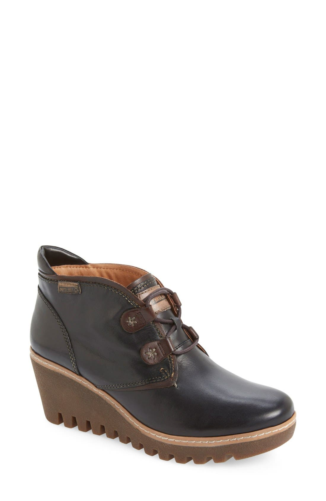 'Maple' Wedge Bootie,                             Main thumbnail 1, color,                             001