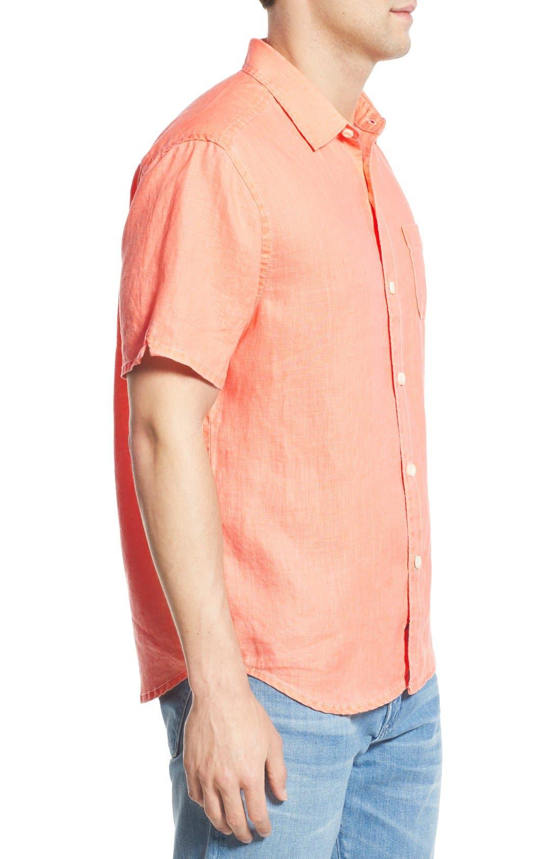 Seaglass Breezer Short Sleeve Linen Sport Shirt,                             Alternate thumbnail 37, color,