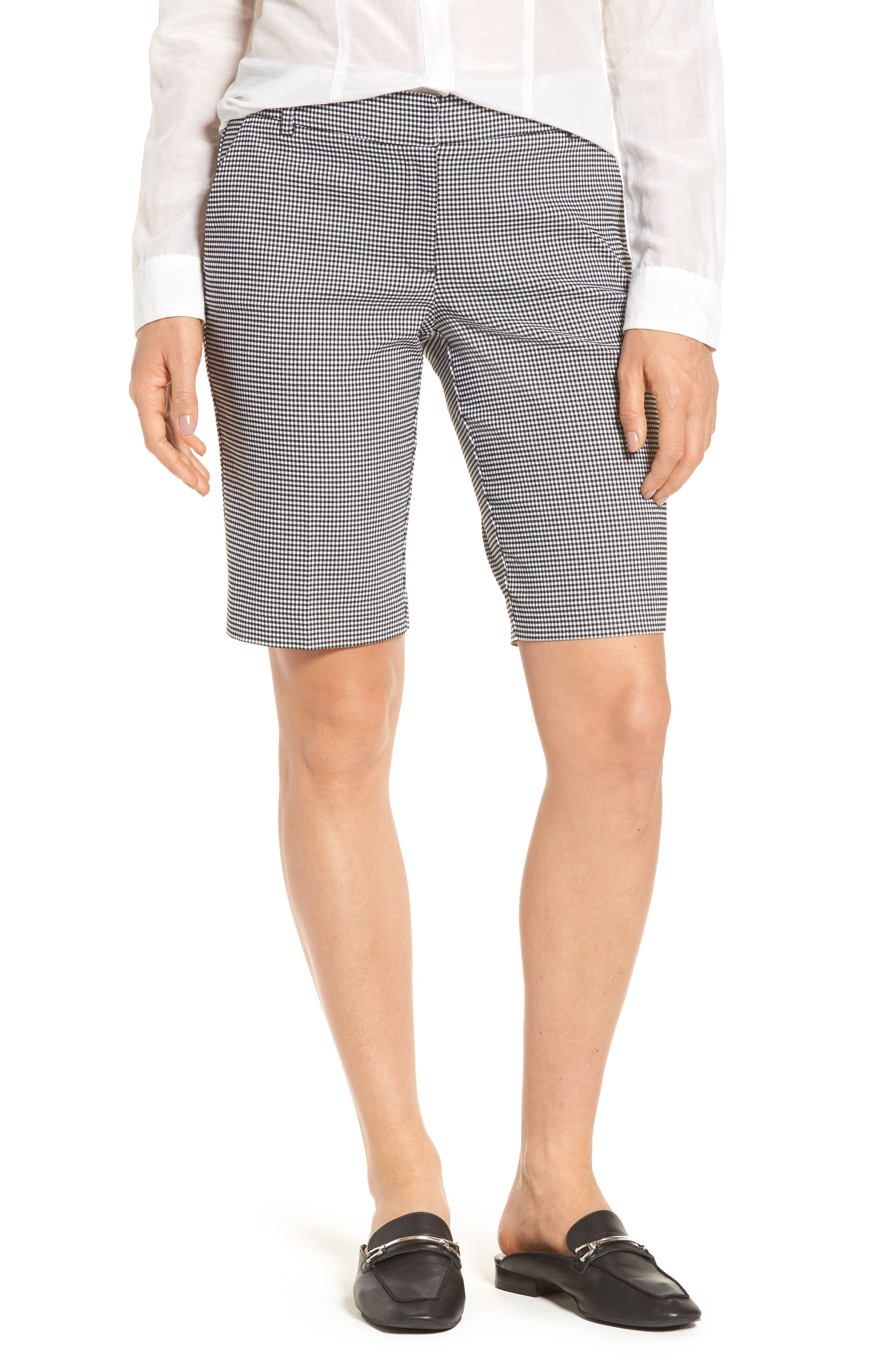 HALOGEN<SUP>®</SUP>,                             Stretch Bermuda Shorts,                             Main thumbnail 1, color,                             002