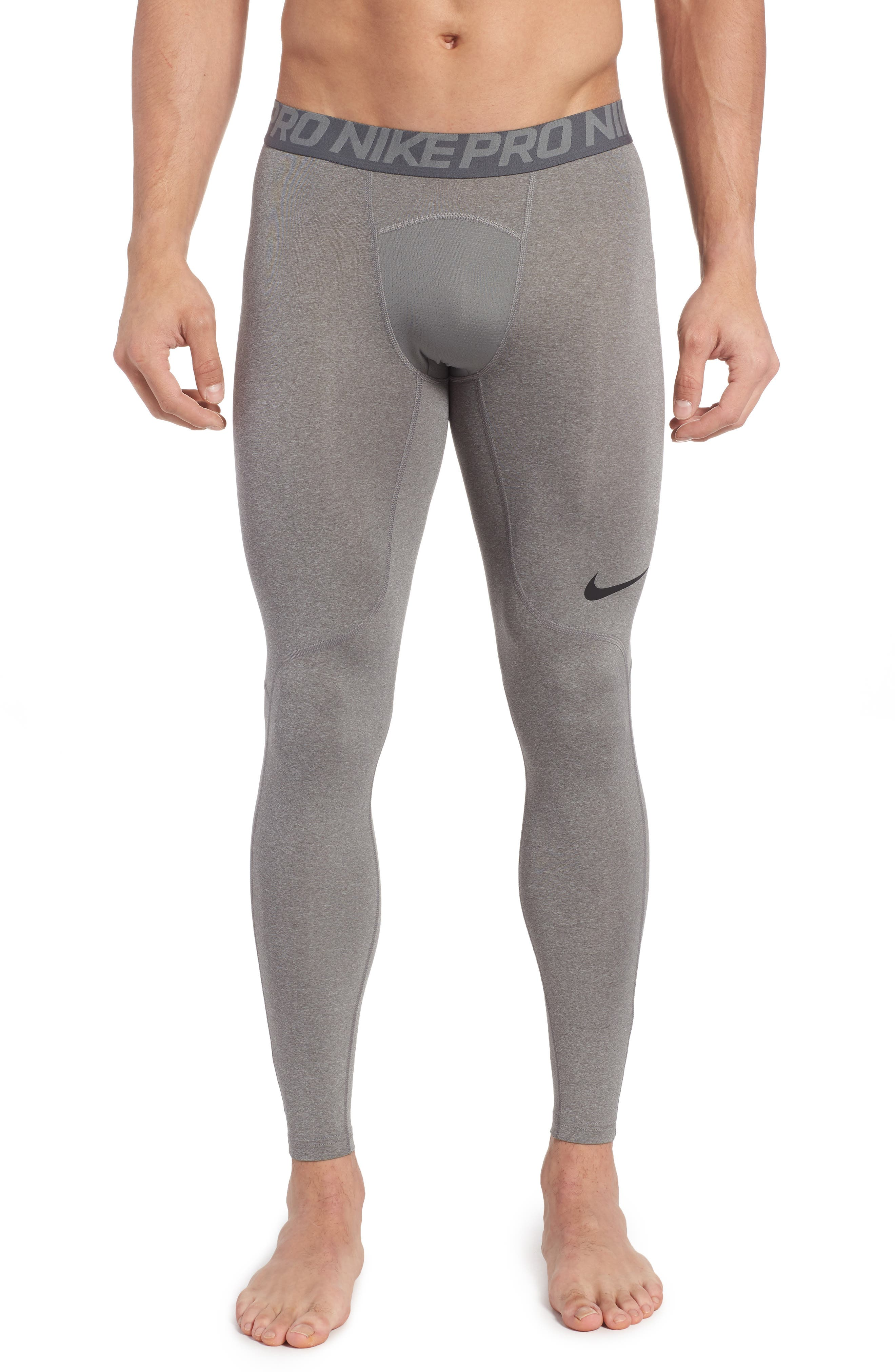Pro Athletic Tights,                             Main thumbnail 1, color,                             CARBON HEATHER/ GREY/ BLACK