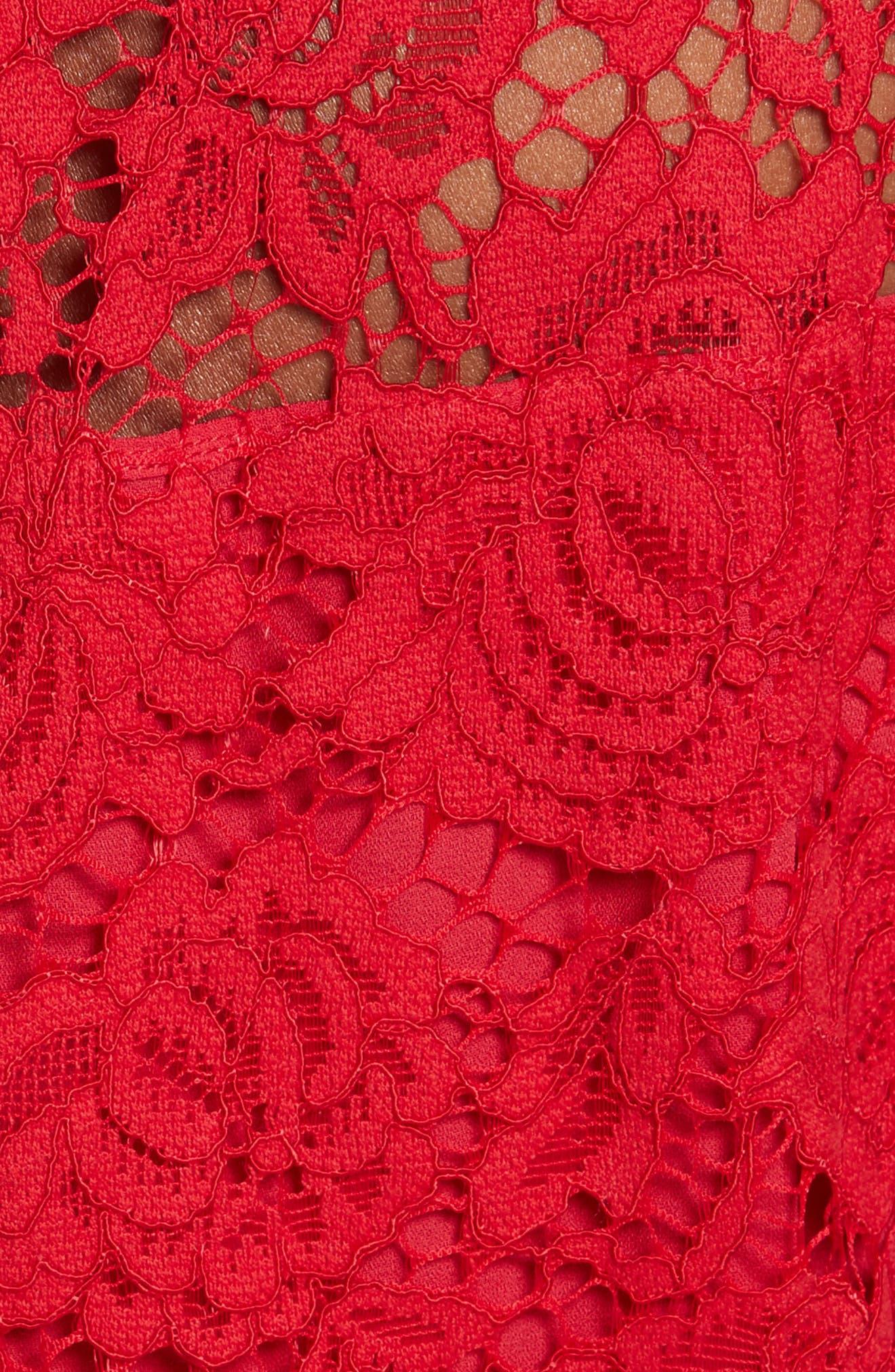 kate spade poppy lace dress,                             Alternate thumbnail 5, color,                             622