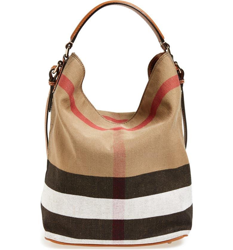 Burberry Medium Ashby Check Print Bucket Bag  795cc6417da57
