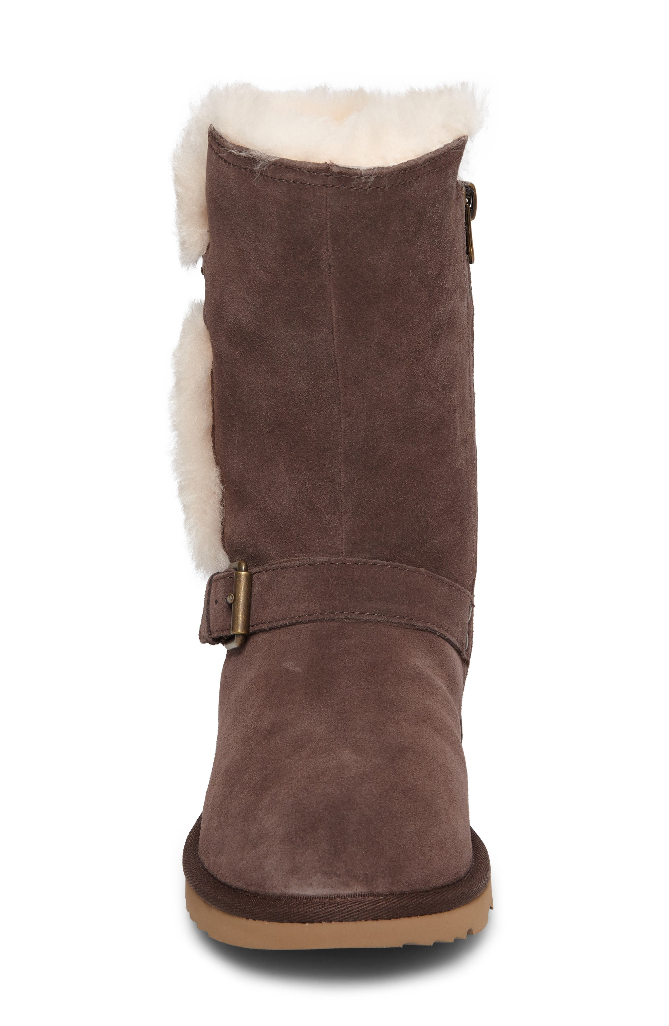 Magda Water Resistant Boot,                             Alternate thumbnail 4, color,                             CHOCOLATE