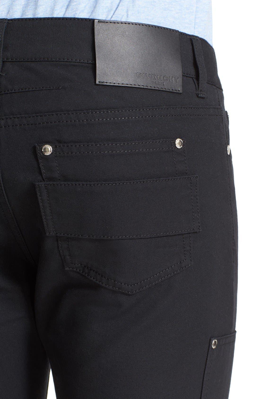 Double Front Work Pants,                             Alternate thumbnail 4, color,                             001