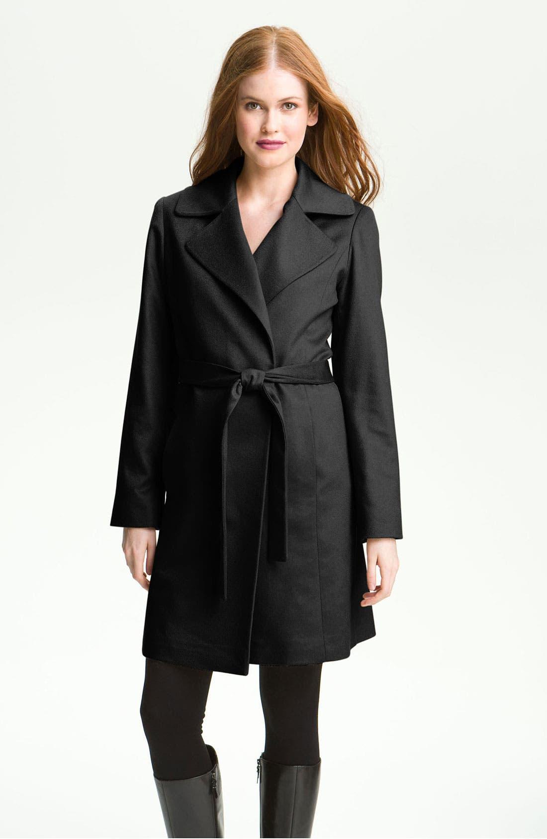 Lightweight Cashmere Wrap Coat,                             Main thumbnail 1, color,                             001
