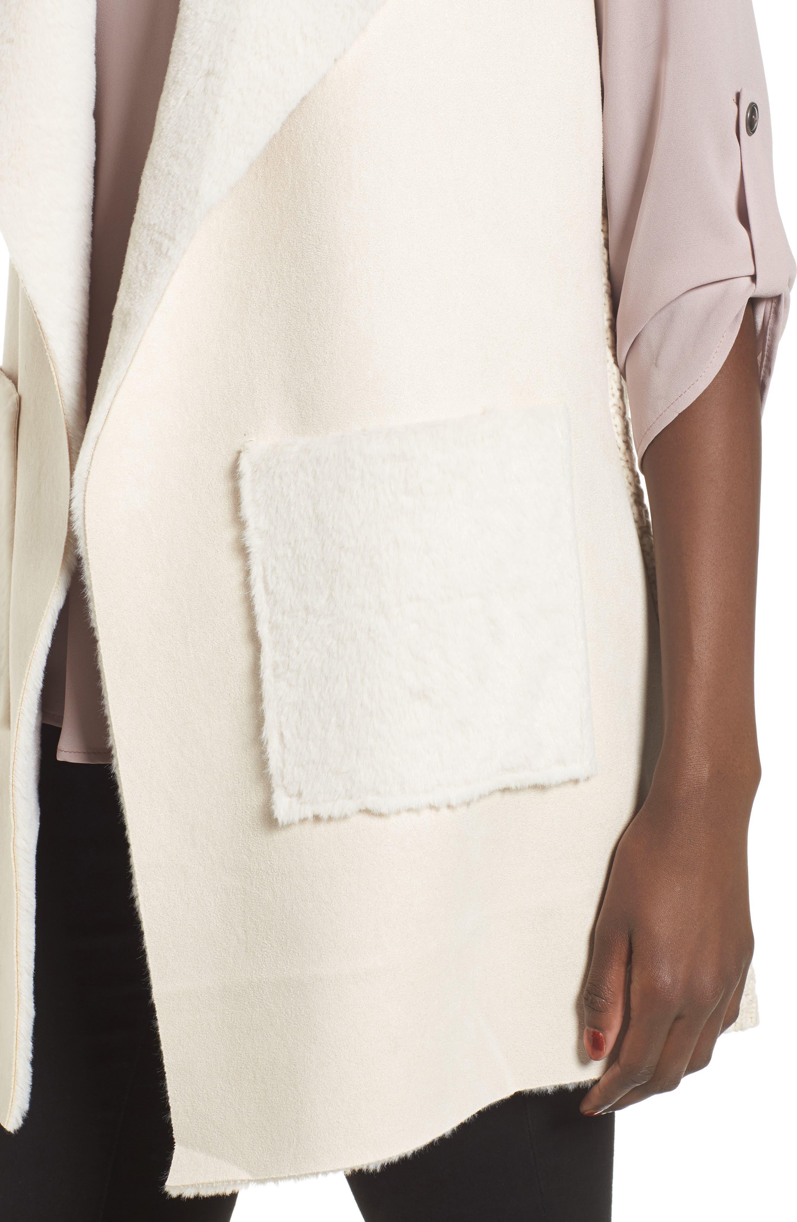 Faux Shearling Vest,                             Alternate thumbnail 12, color,