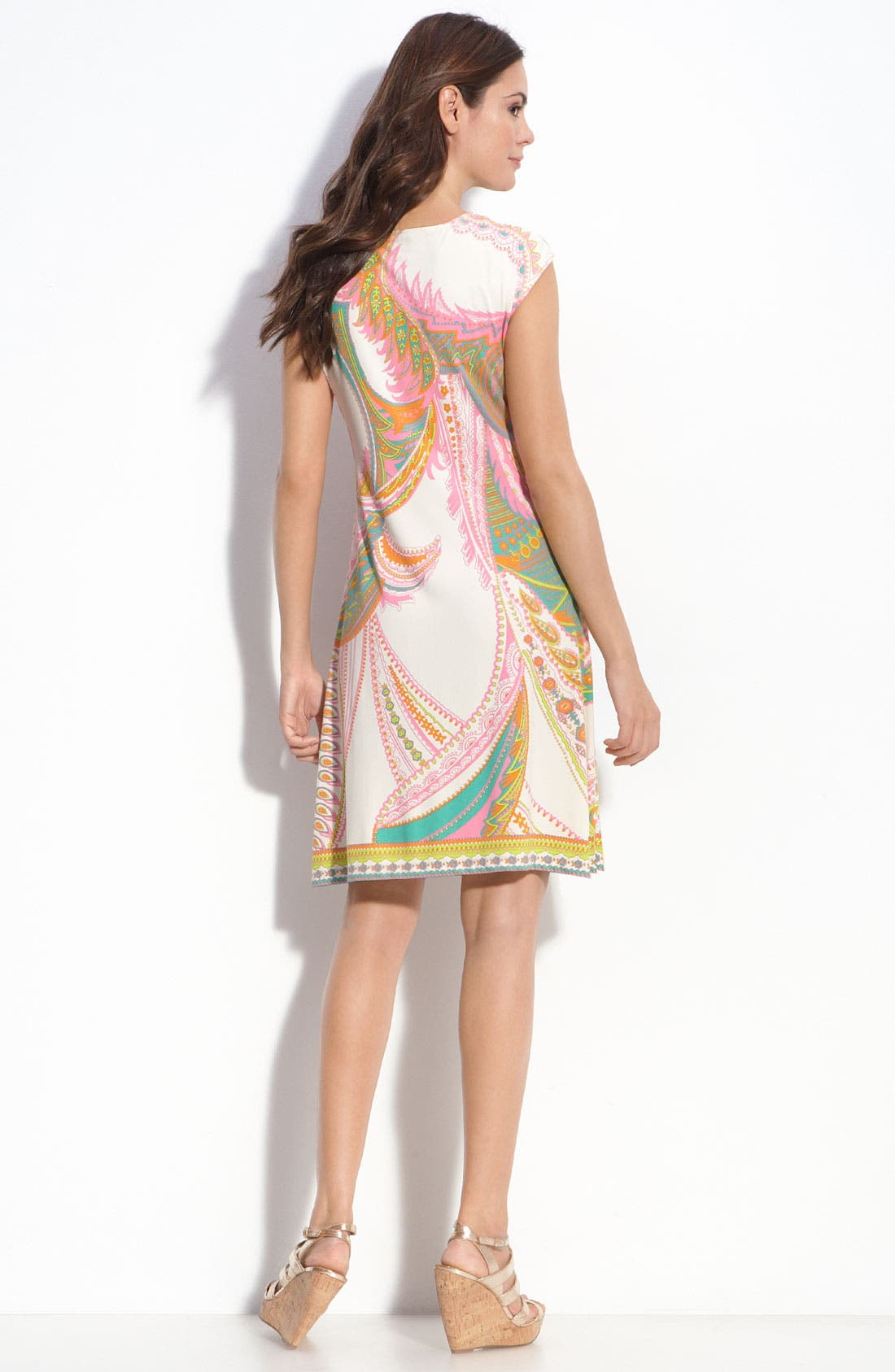 Medallion Detail Jersey Sheath Dress,                             Alternate thumbnail 2, color,