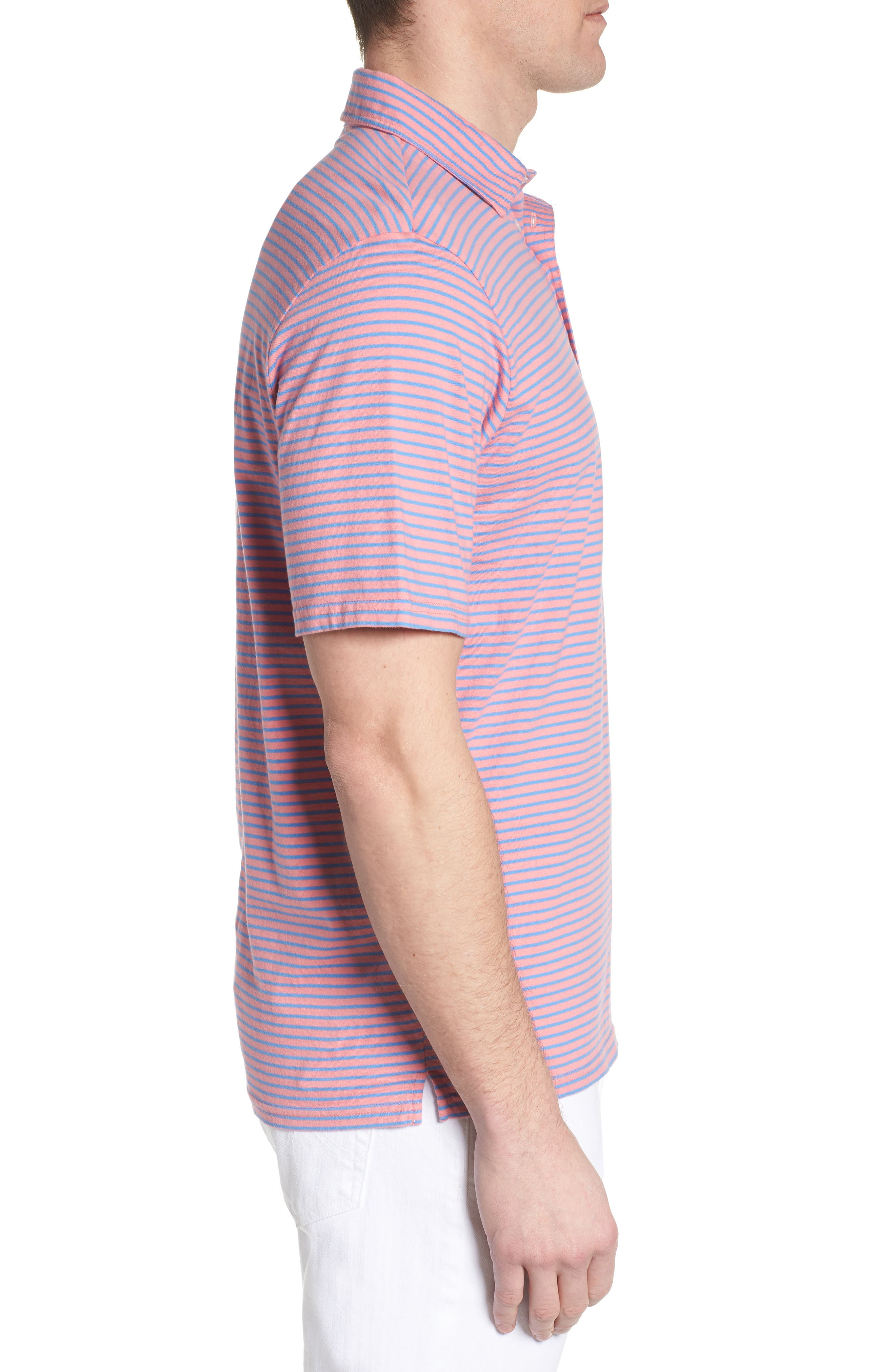 Macon Regular Fit Stripe Polo,                             Alternate thumbnail 6, color,