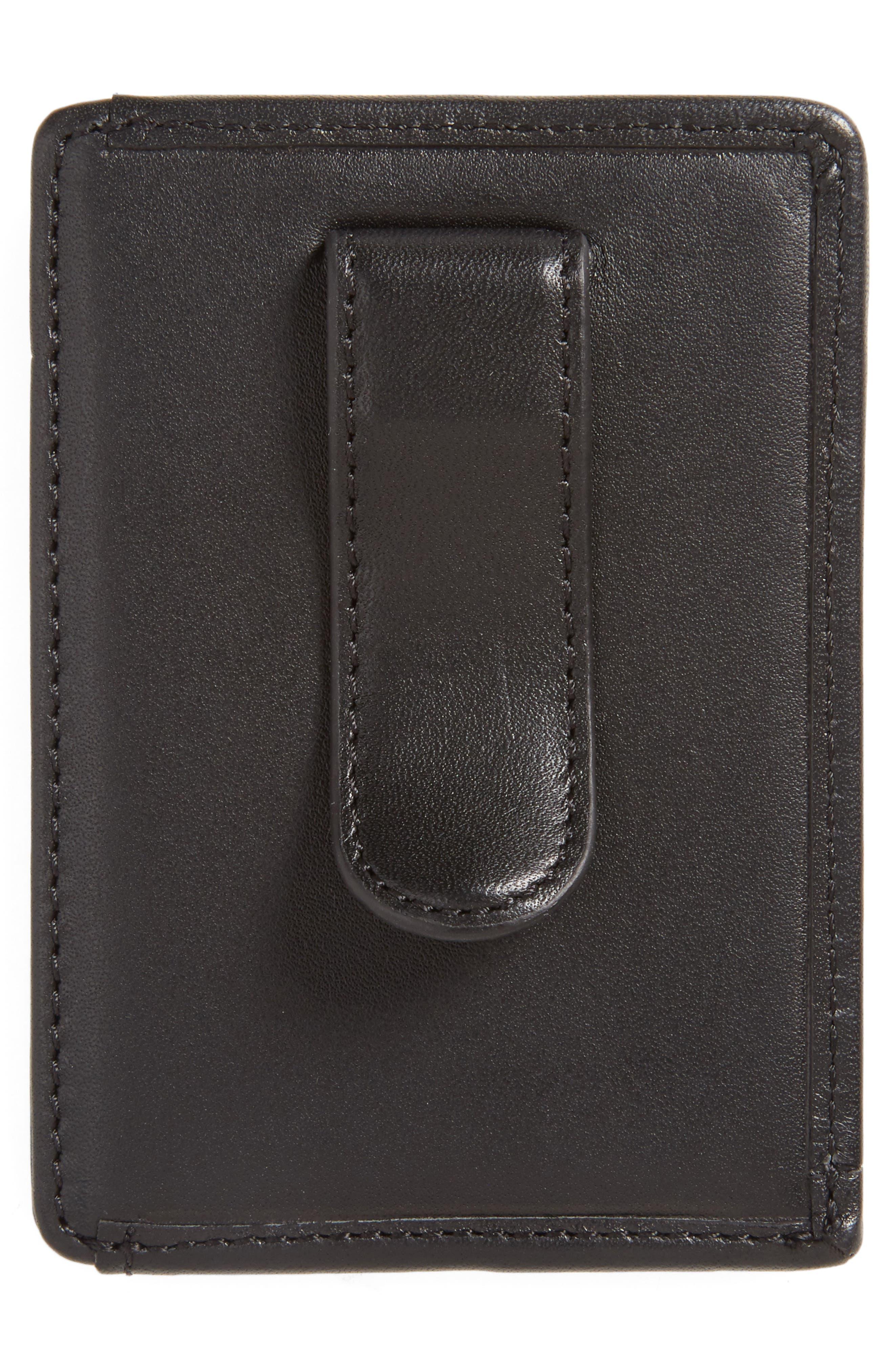 'Alpha' Money Clip Card Case,                             Alternate thumbnail 2, color,                             001