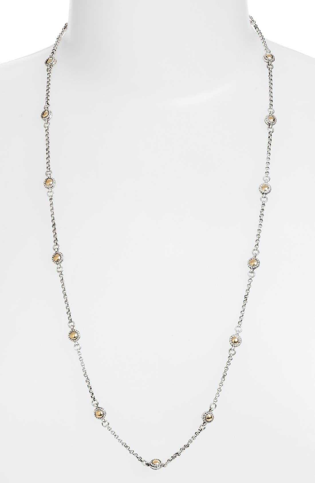 Station Necklace,                         Main,                         color, SILVER/ GOLD