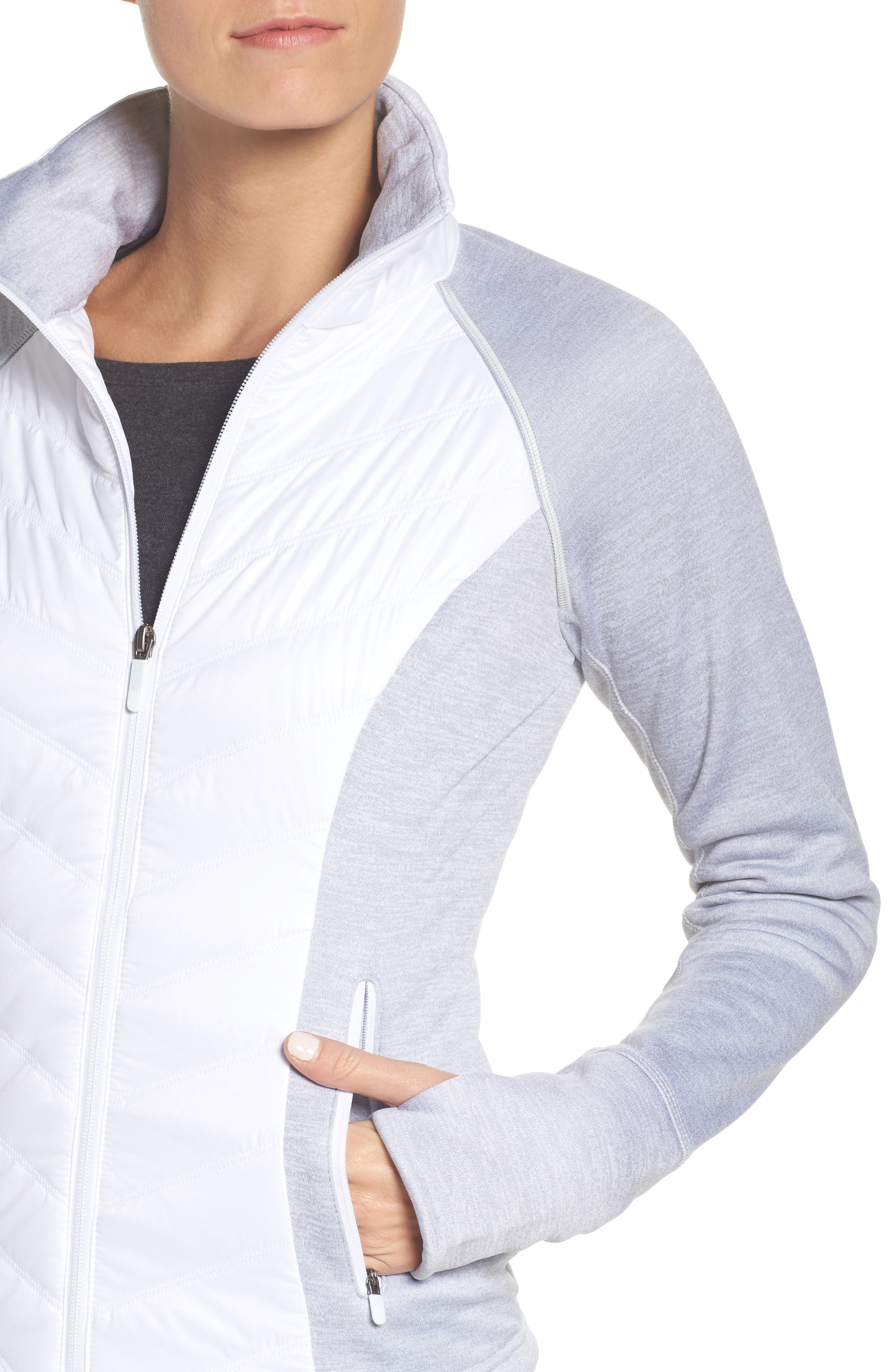 Zelfusion Reflective Quilted Jacket,                             Alternate thumbnail 37, color,