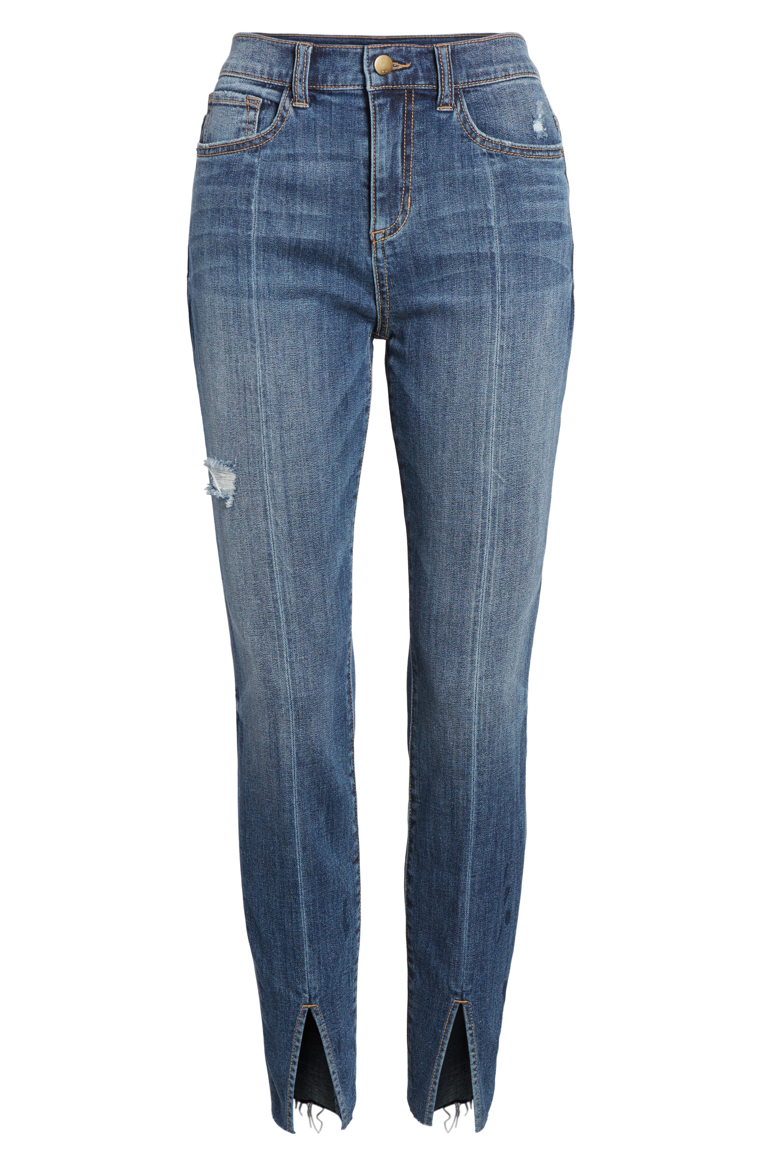 Split Hem Skinny Jeans,                             Alternate thumbnail 7, color,