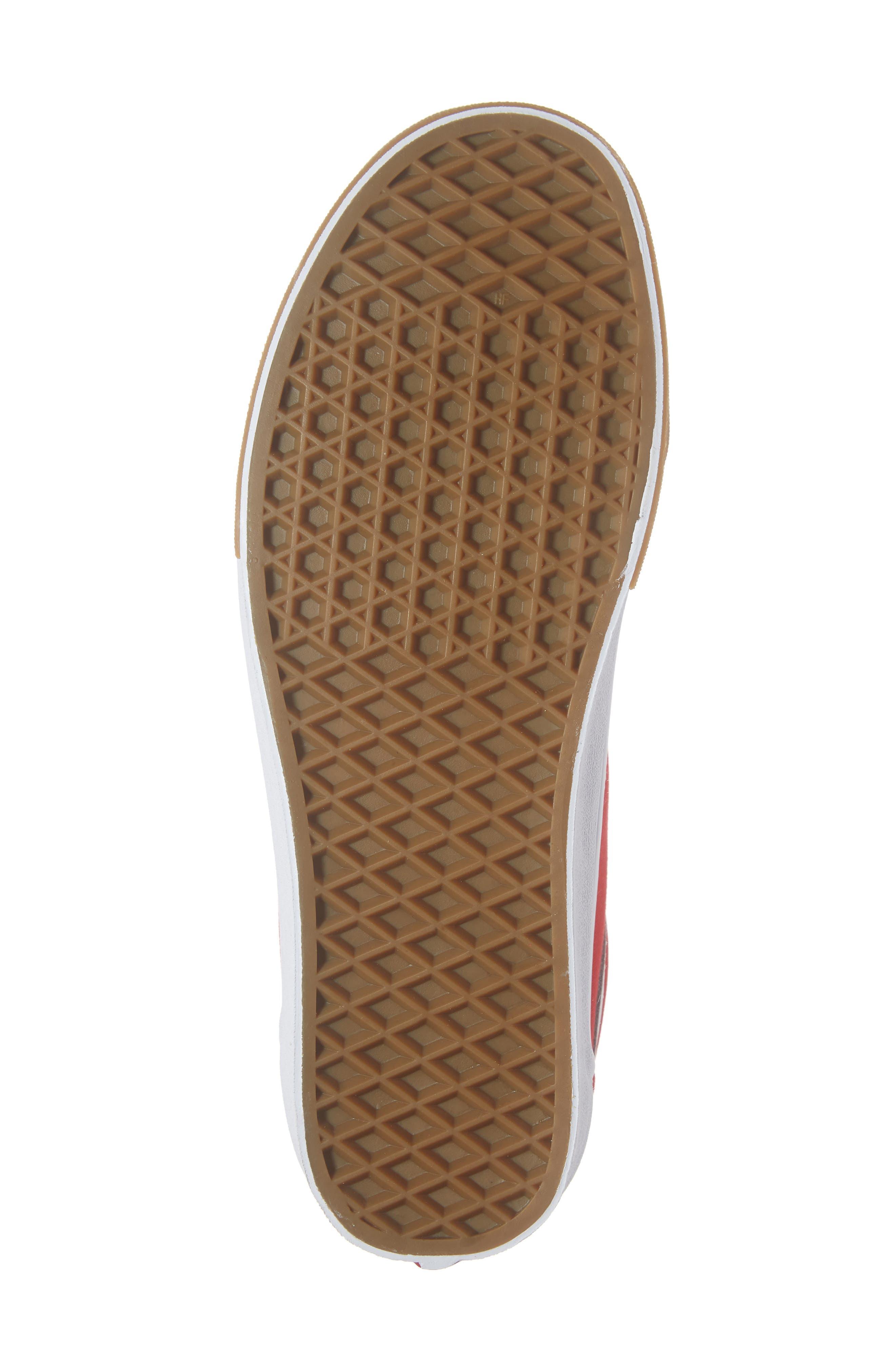 VANS,                             Gum Old Skool Sneaker,                             Alternate thumbnail 6, color,                             RED/ TRUE WHITE