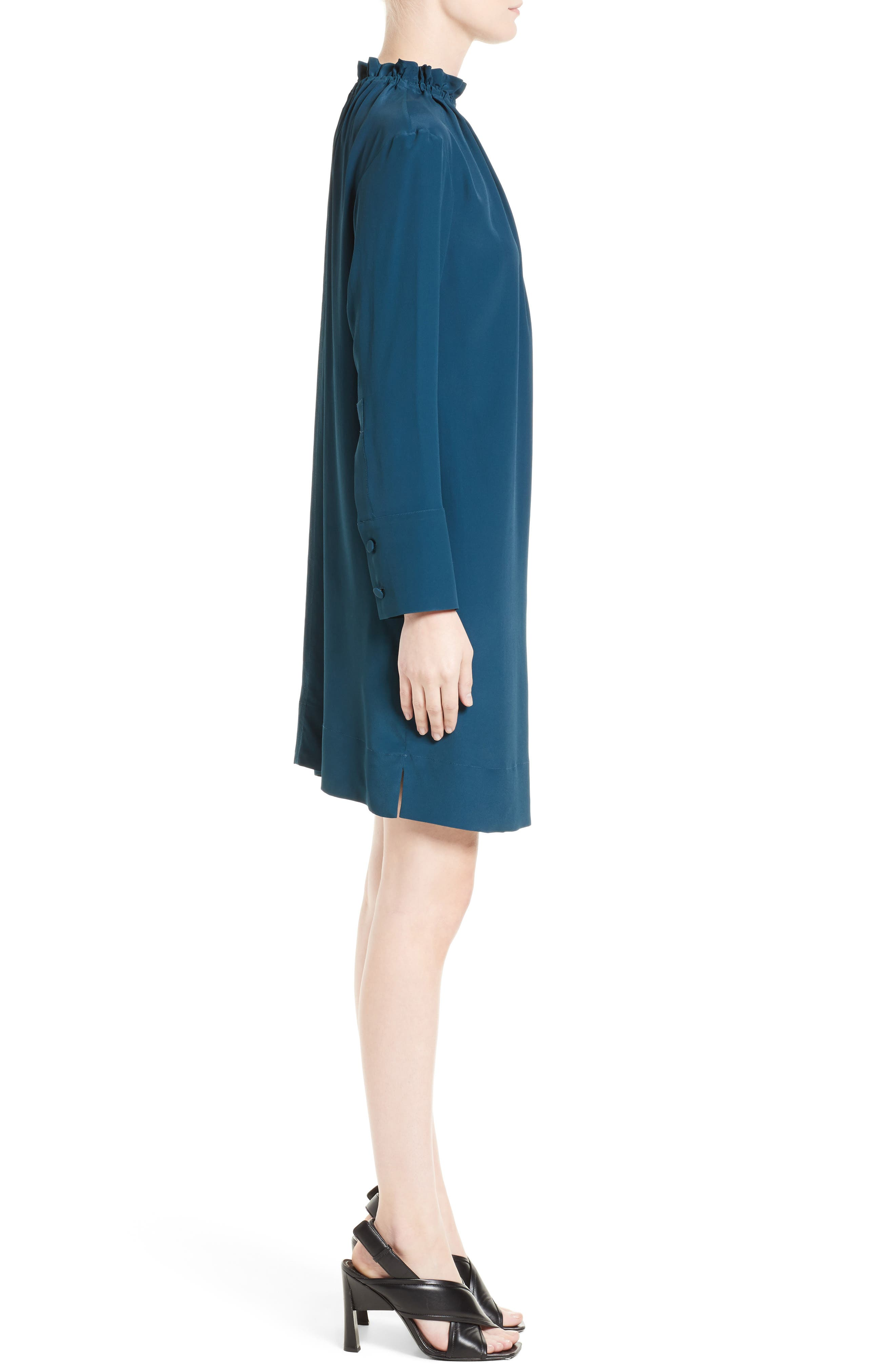 Gathered Neck Dress,                             Alternate thumbnail 3, color,                             400