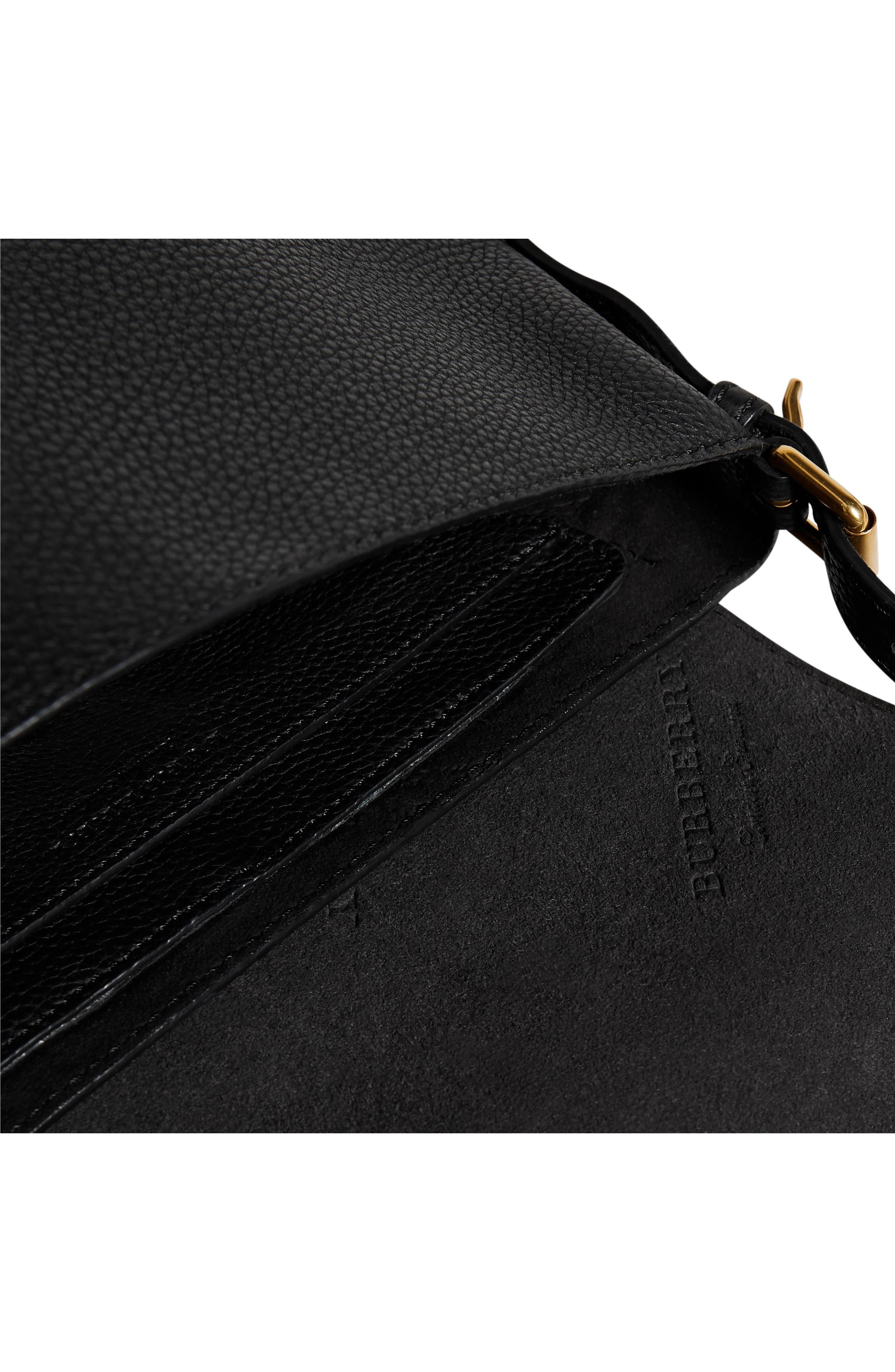 Small Burleigh Leather Crossbody Bag,                             Alternate thumbnail 8, color,                             001