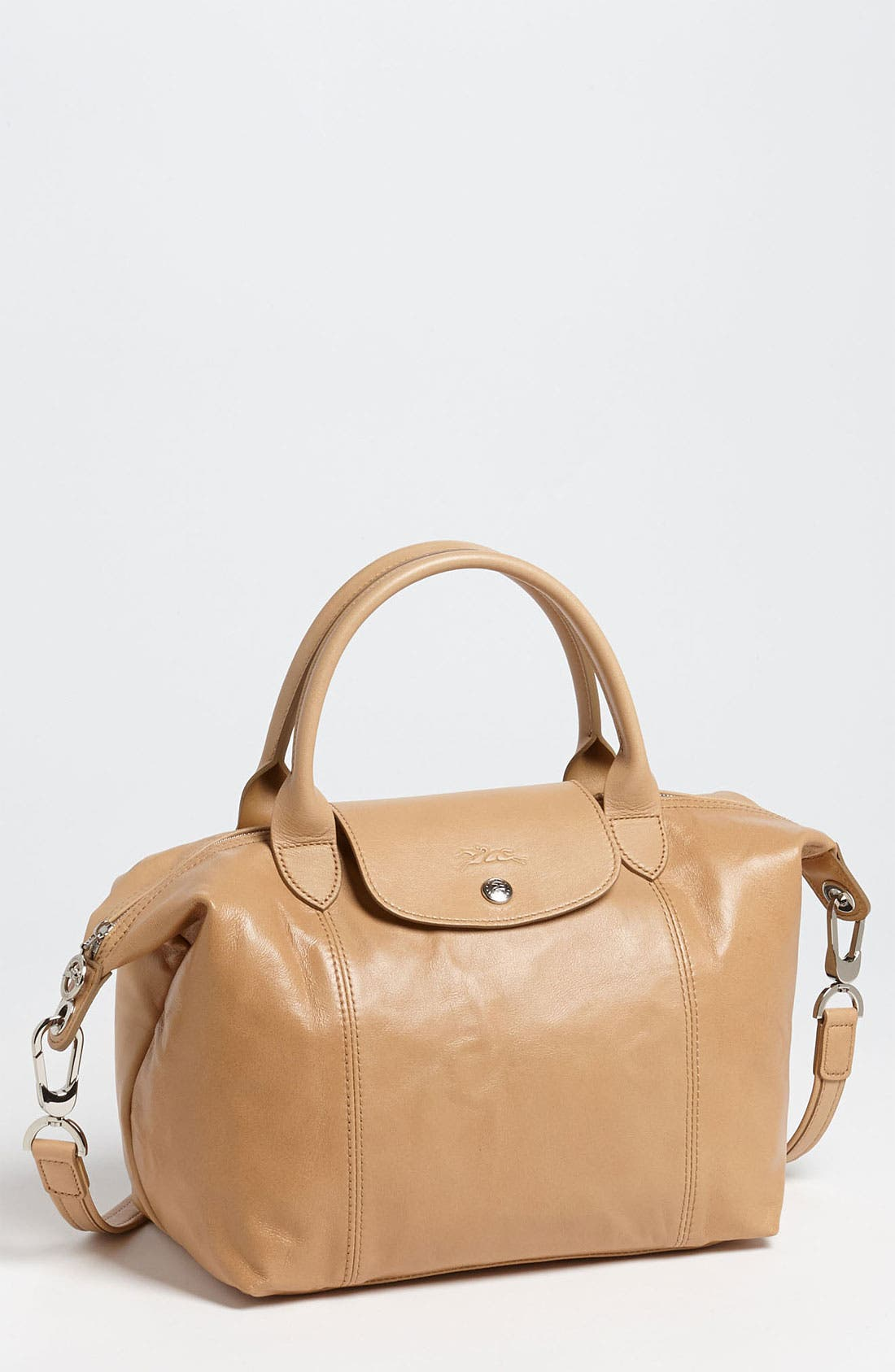 Small 'Le Pliage Cuir' Leather Top Handle Tote,                             Main thumbnail 7, color,