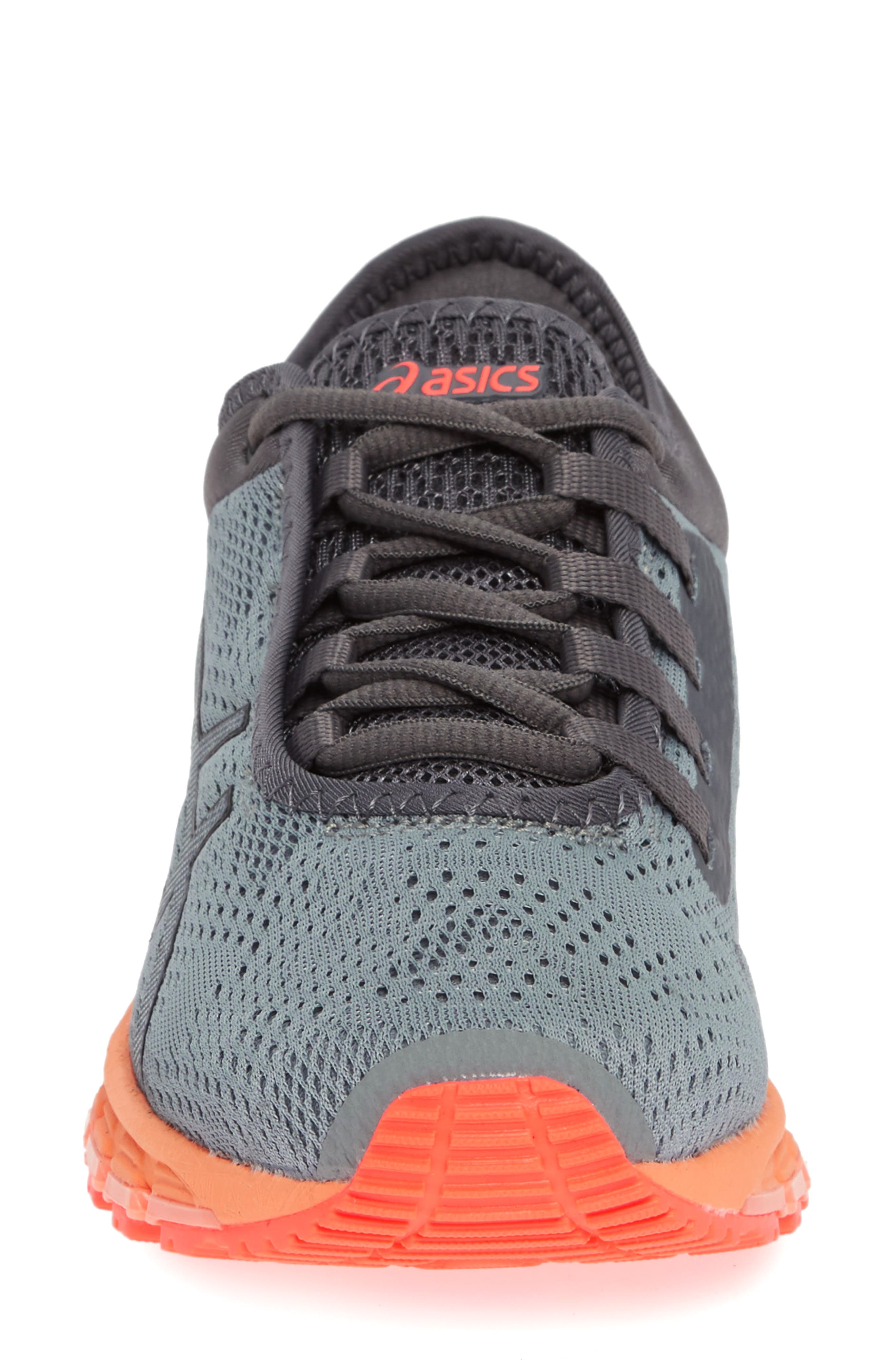 GEL Quantum 180 3 Running Shoe,                             Alternate thumbnail 4, color,                             STONE GREY/ CARBON