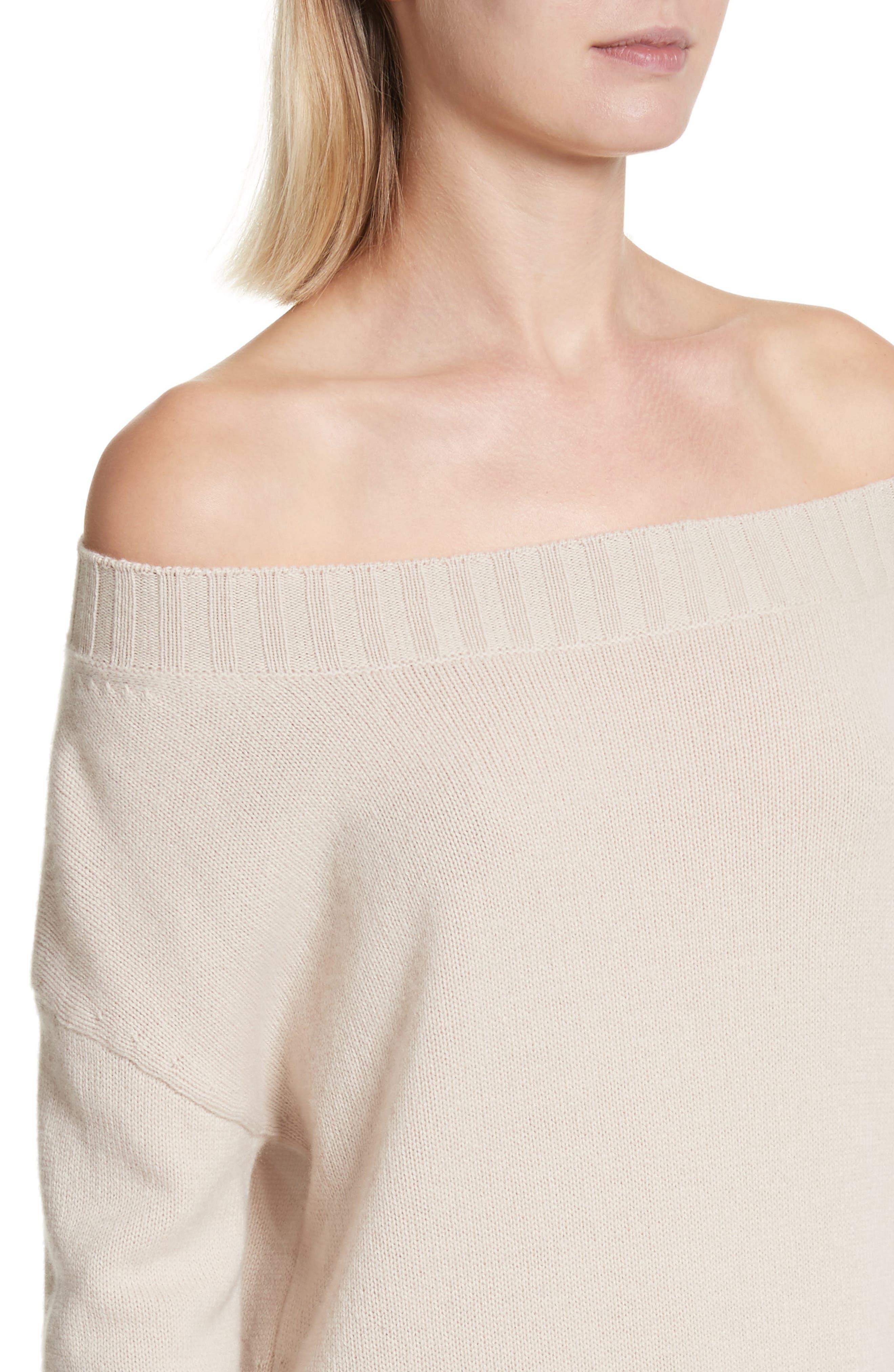 Cold Shoulder Wool & Cashmere Sweater Dress,                             Alternate thumbnail 8, color,