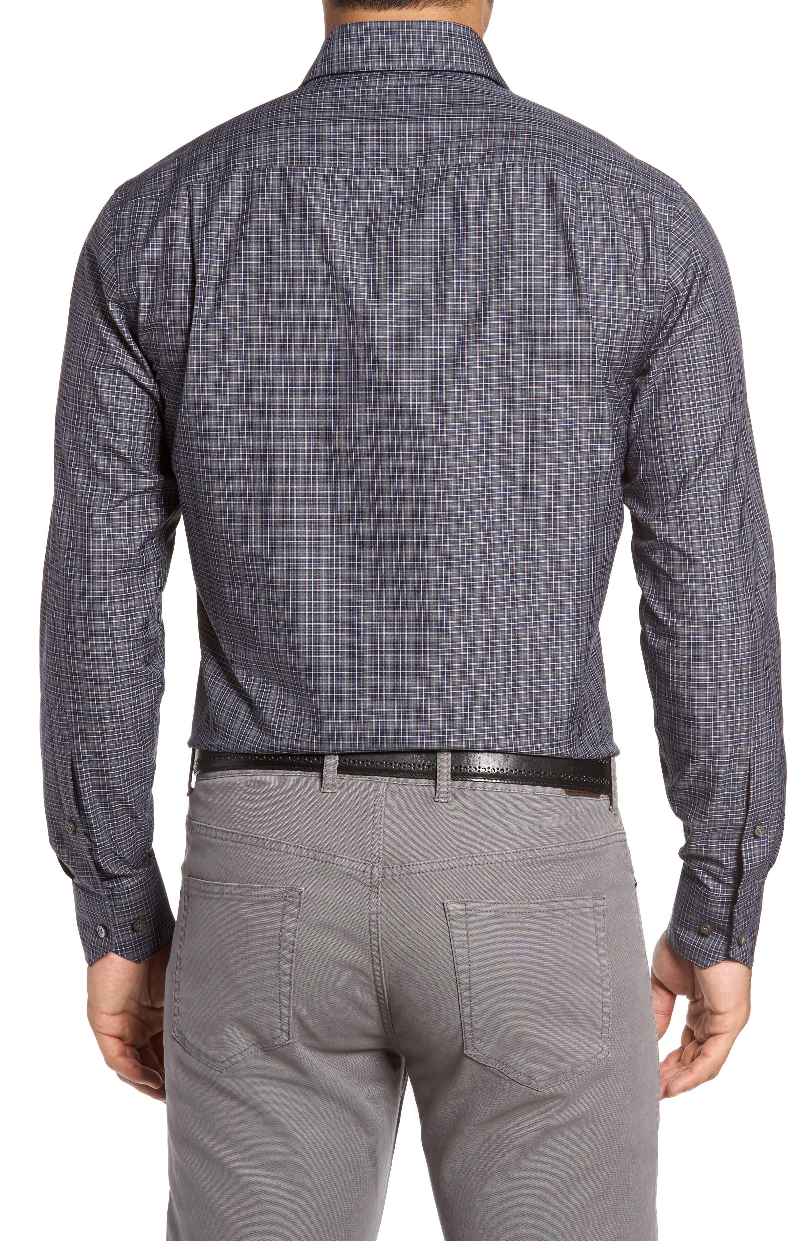 Meadows Mélange Regular Fit Check Sport Shirt,                             Alternate thumbnail 2, color,