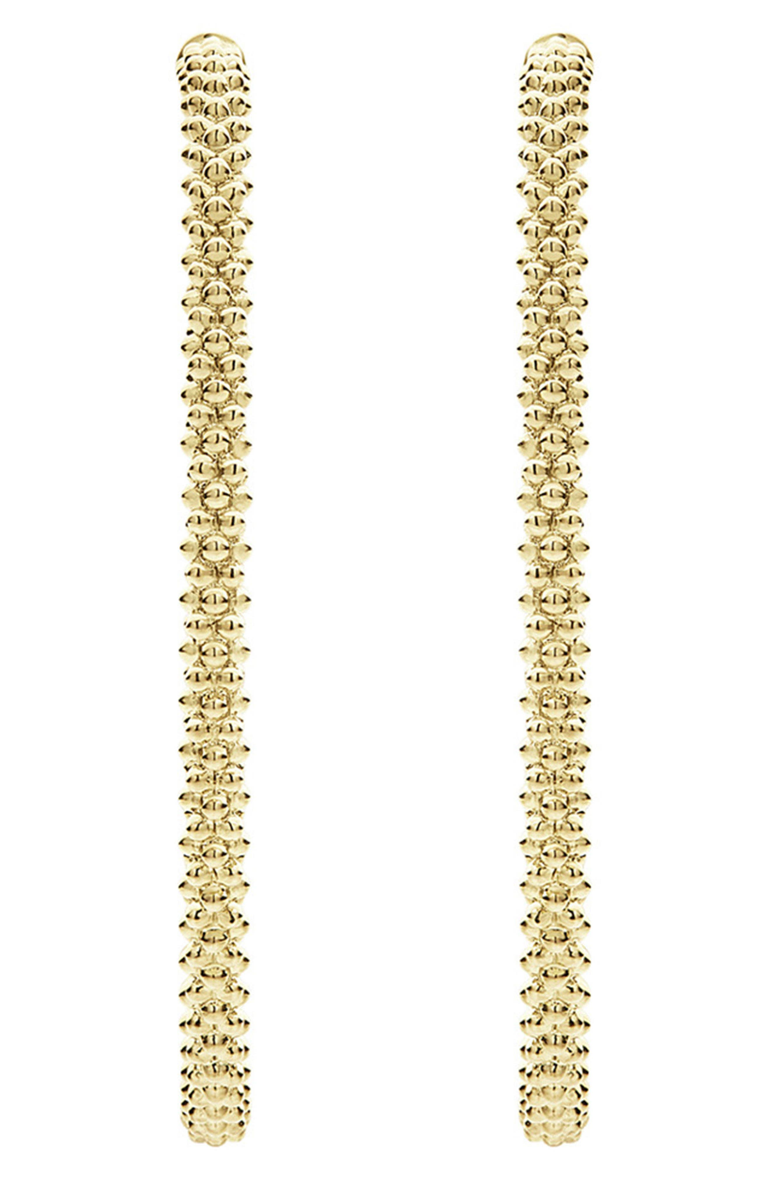 Caviar Hoop Earrings,                             Alternate thumbnail 5, color,                             GOLD