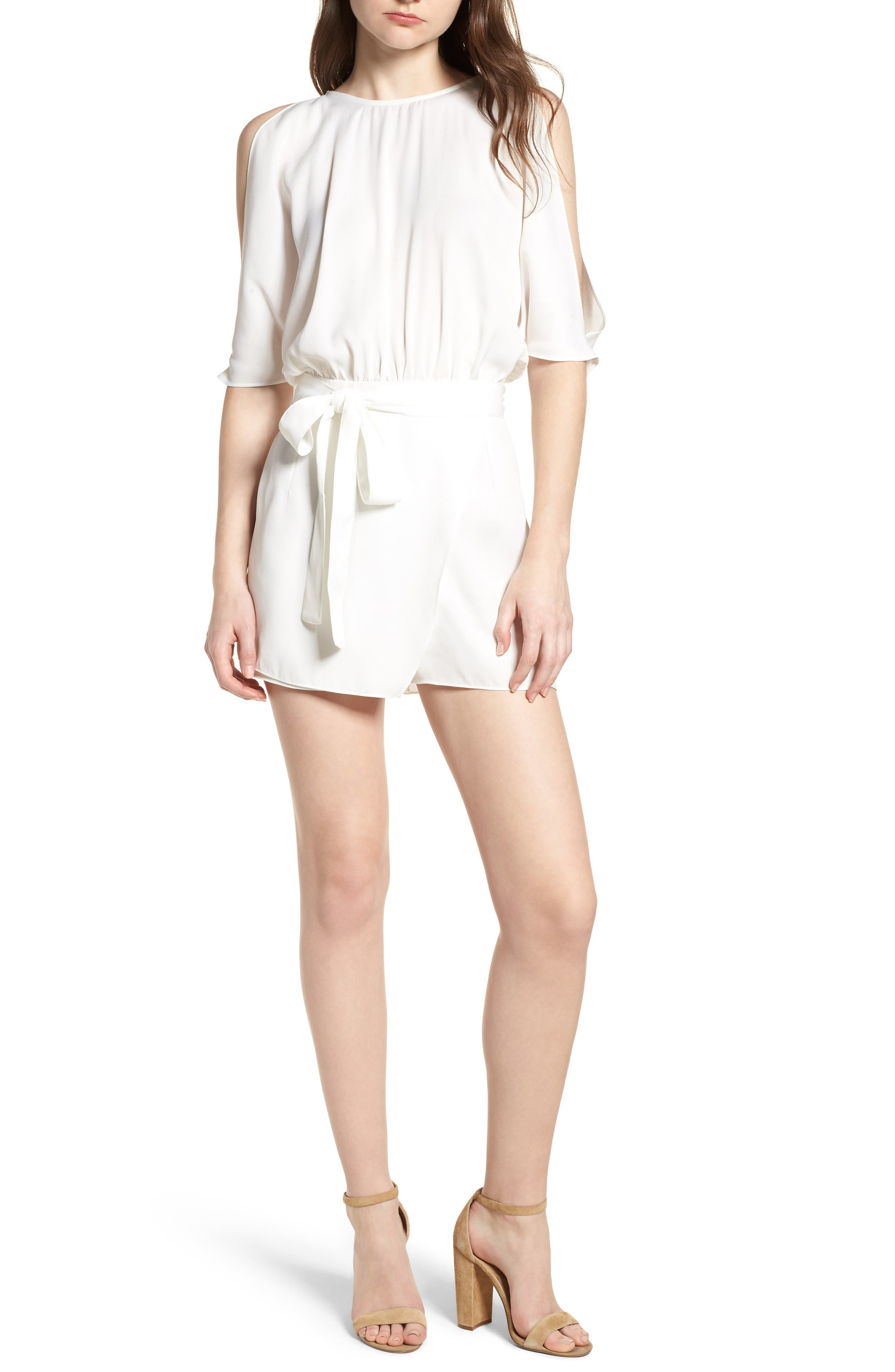 Bishop + Young Jet Set Cold Shoulder Romper,                             Main thumbnail 1, color,