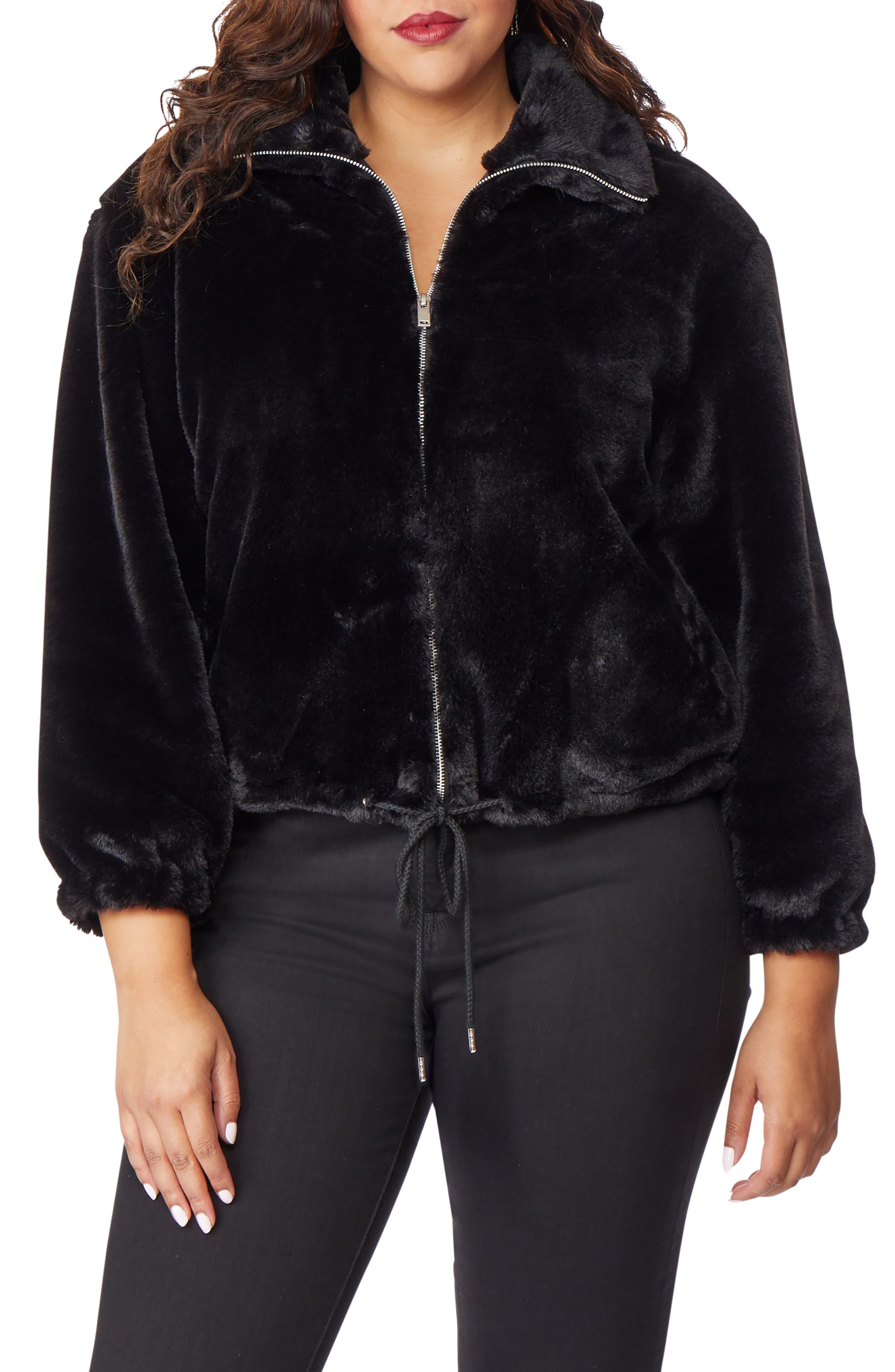 Super Soft Faux Fur Jacket,                             Main thumbnail 1, color,                             002