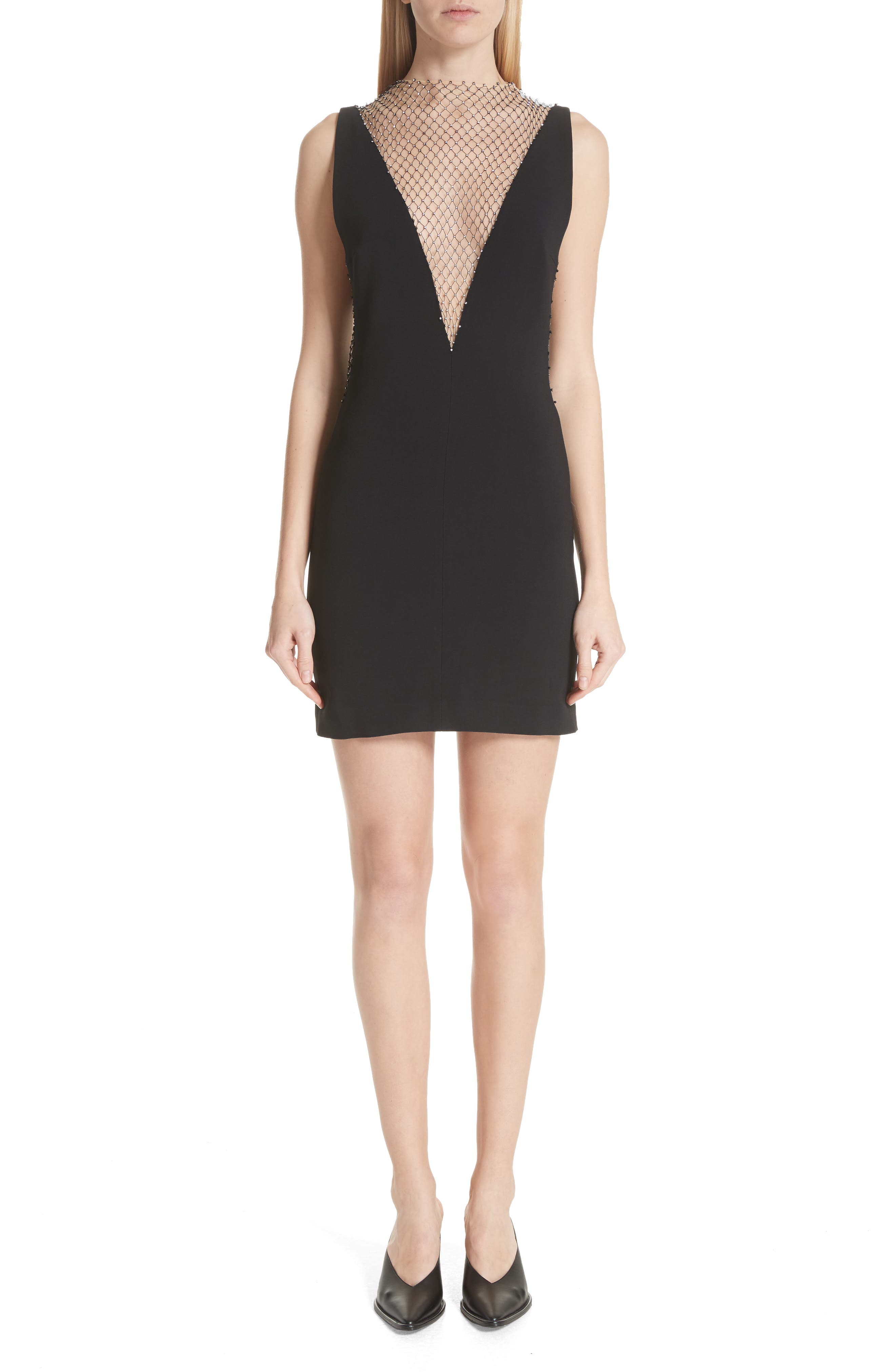 Mesh & Cady Cocktail Dress,                         Main,                         color, 001