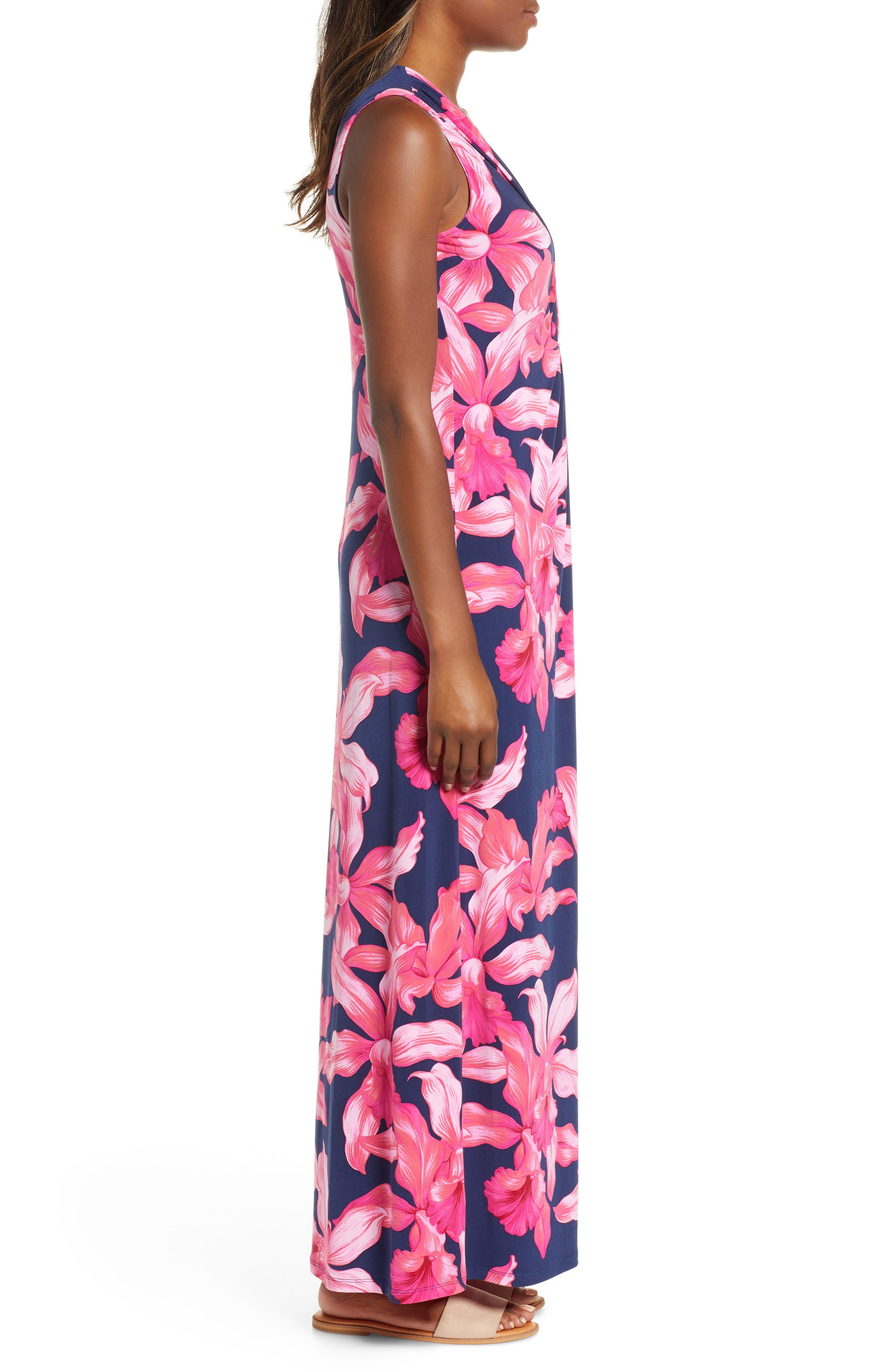 Orchid Rua Maxi Dress,                             Alternate thumbnail 3, color,                             ISLAND NAVY