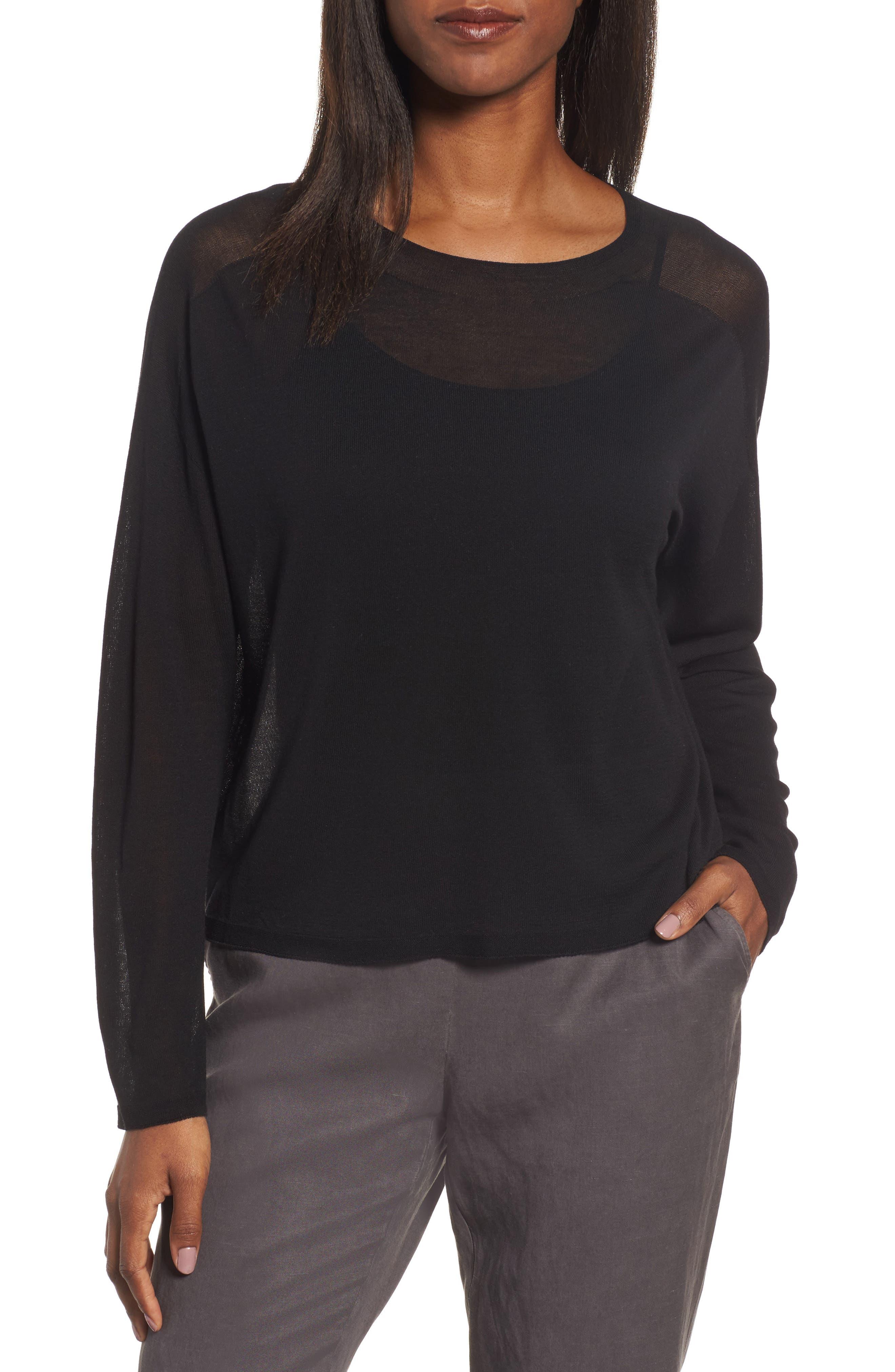 Tencel<sup>®</sup> Knit Dolman Top,                         Main,                         color, 001