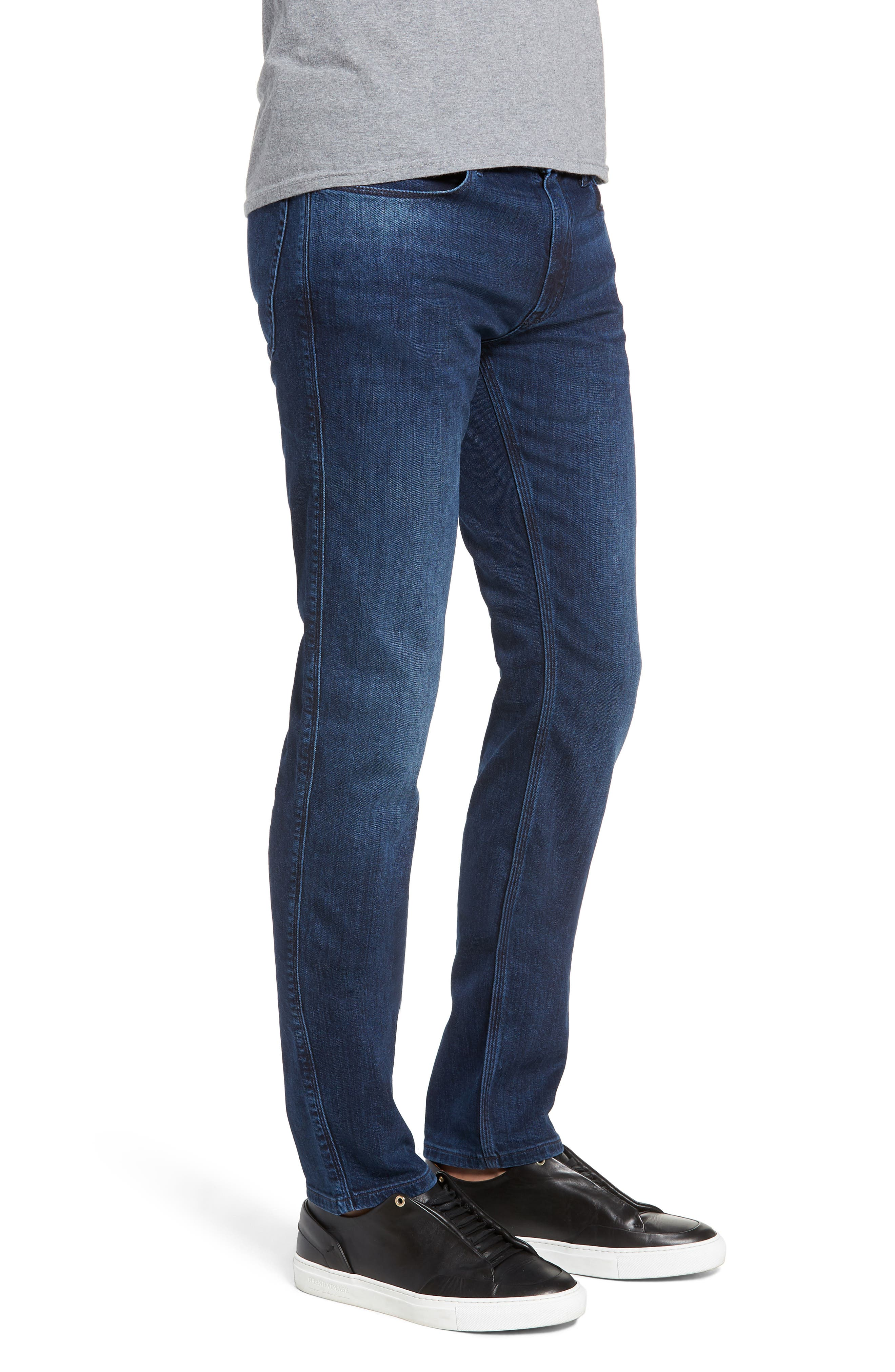 708 Stretch Slim Fit Jeans,                             Alternate thumbnail 3, color,                             BLUE