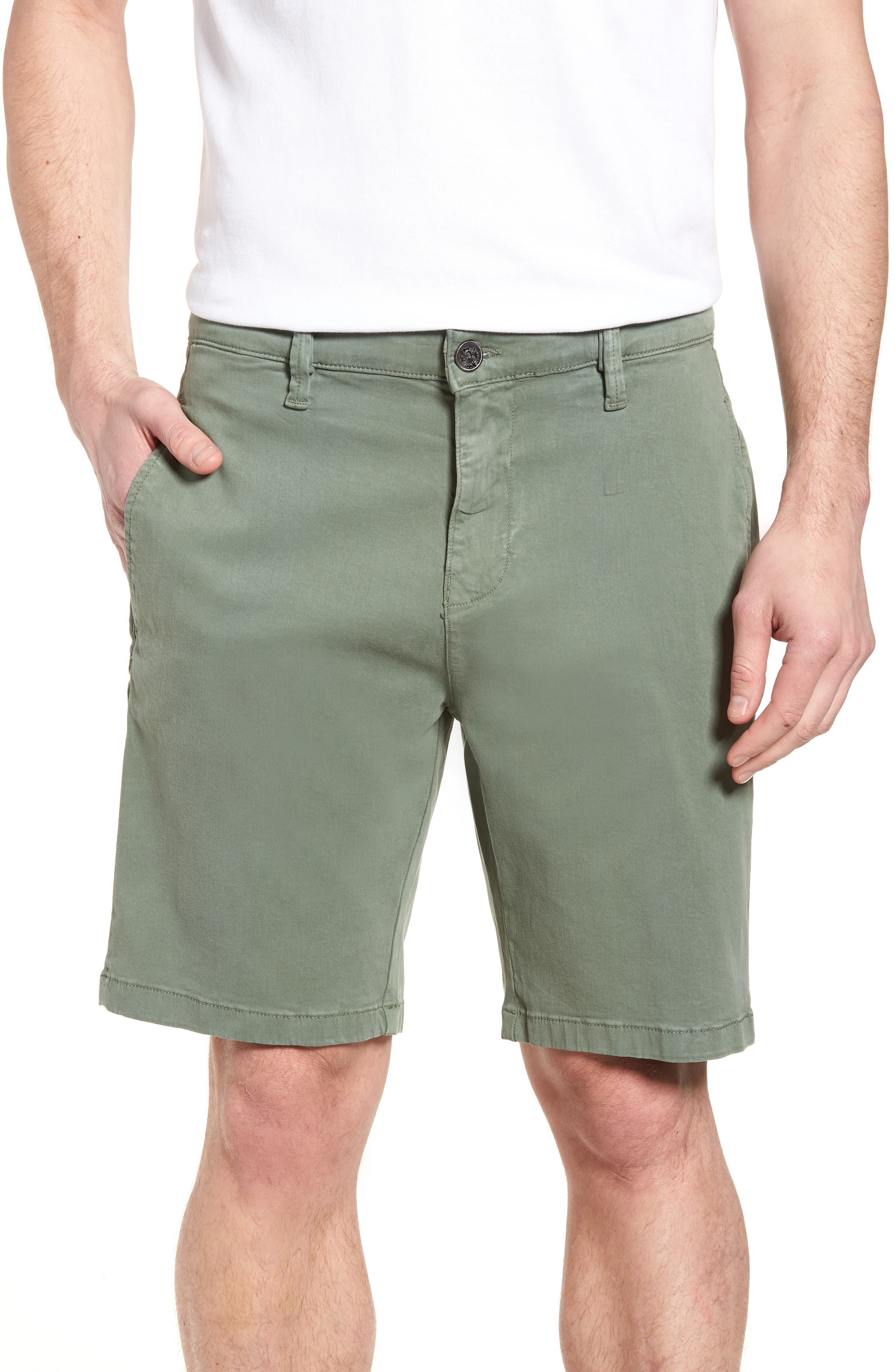 34 HERITAGE Nevada Twill Shorts, Main, color, MOSS TWILL