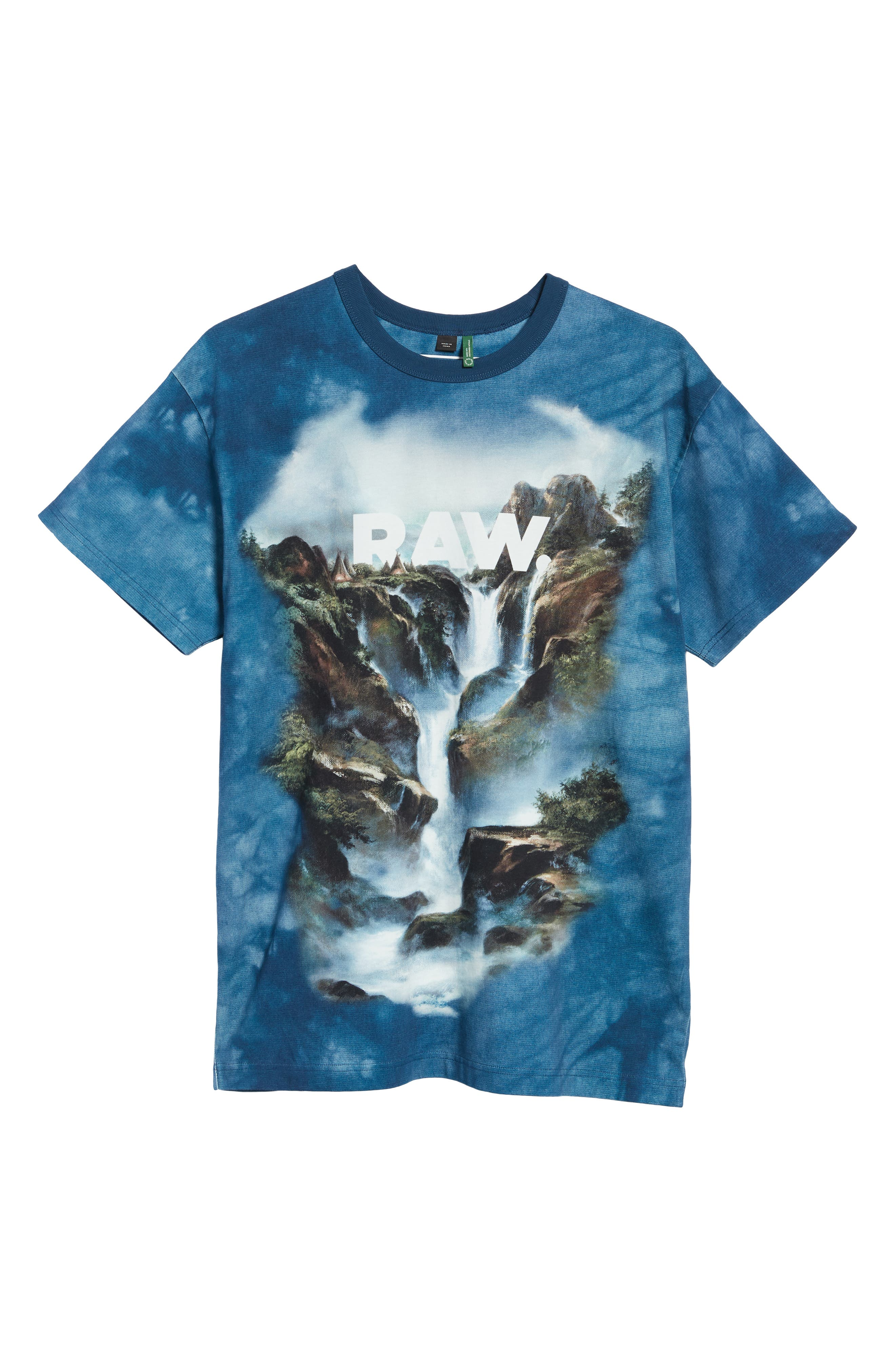G-Star Cyrer Waterfall Loose T-Shirt,                             Alternate thumbnail 6, color,                             TEAL BLUE