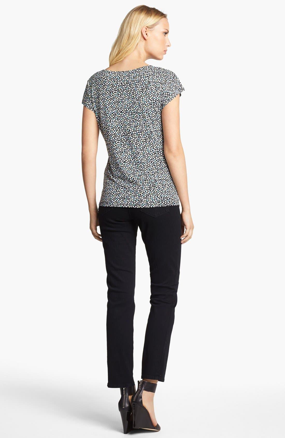 'Sheri' Stretch Skinny Jeans,                             Alternate thumbnail 6, color,                             001
