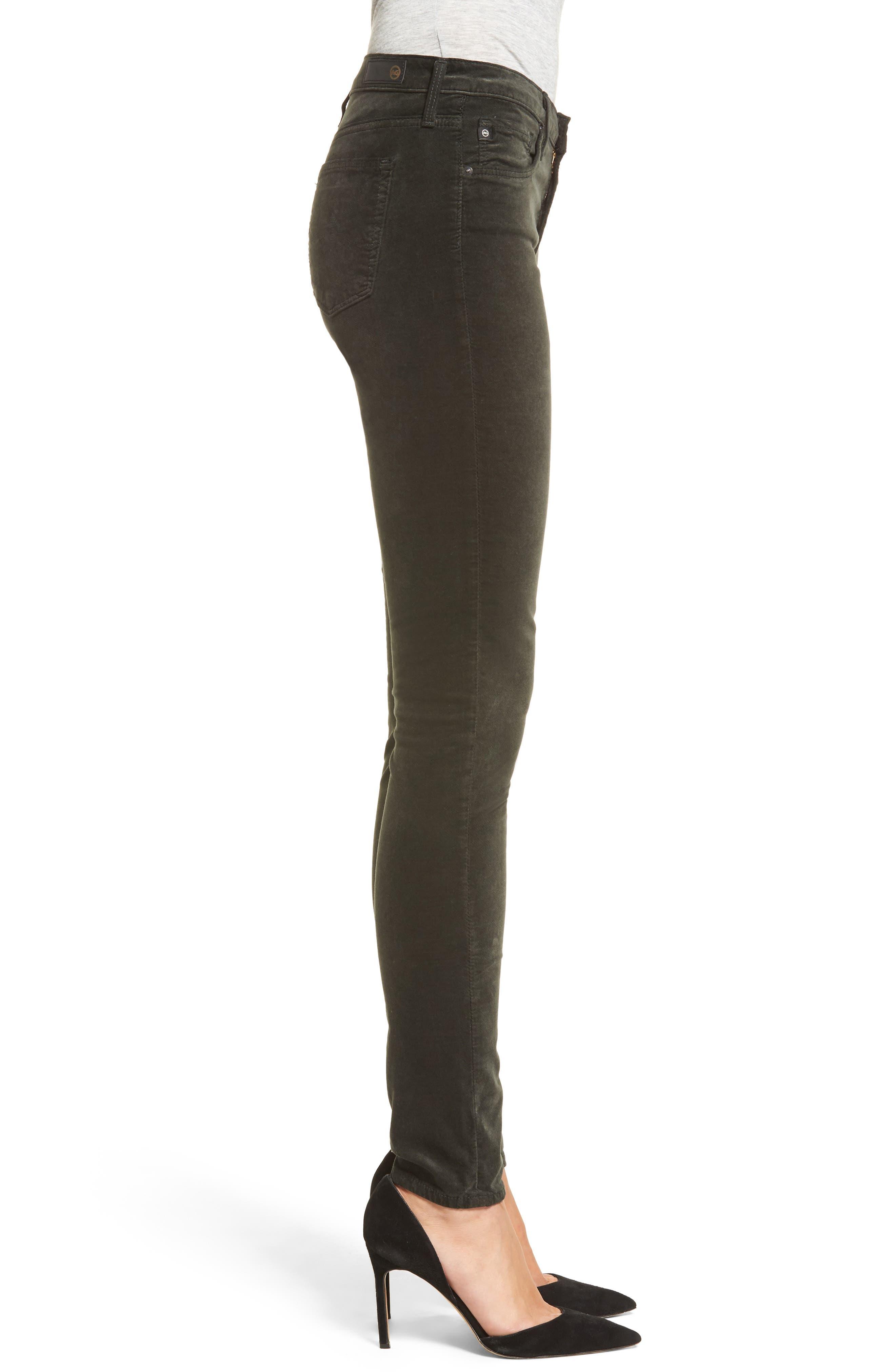Super Skinny Velvet Leggings,                             Alternate thumbnail 3, color,                             396