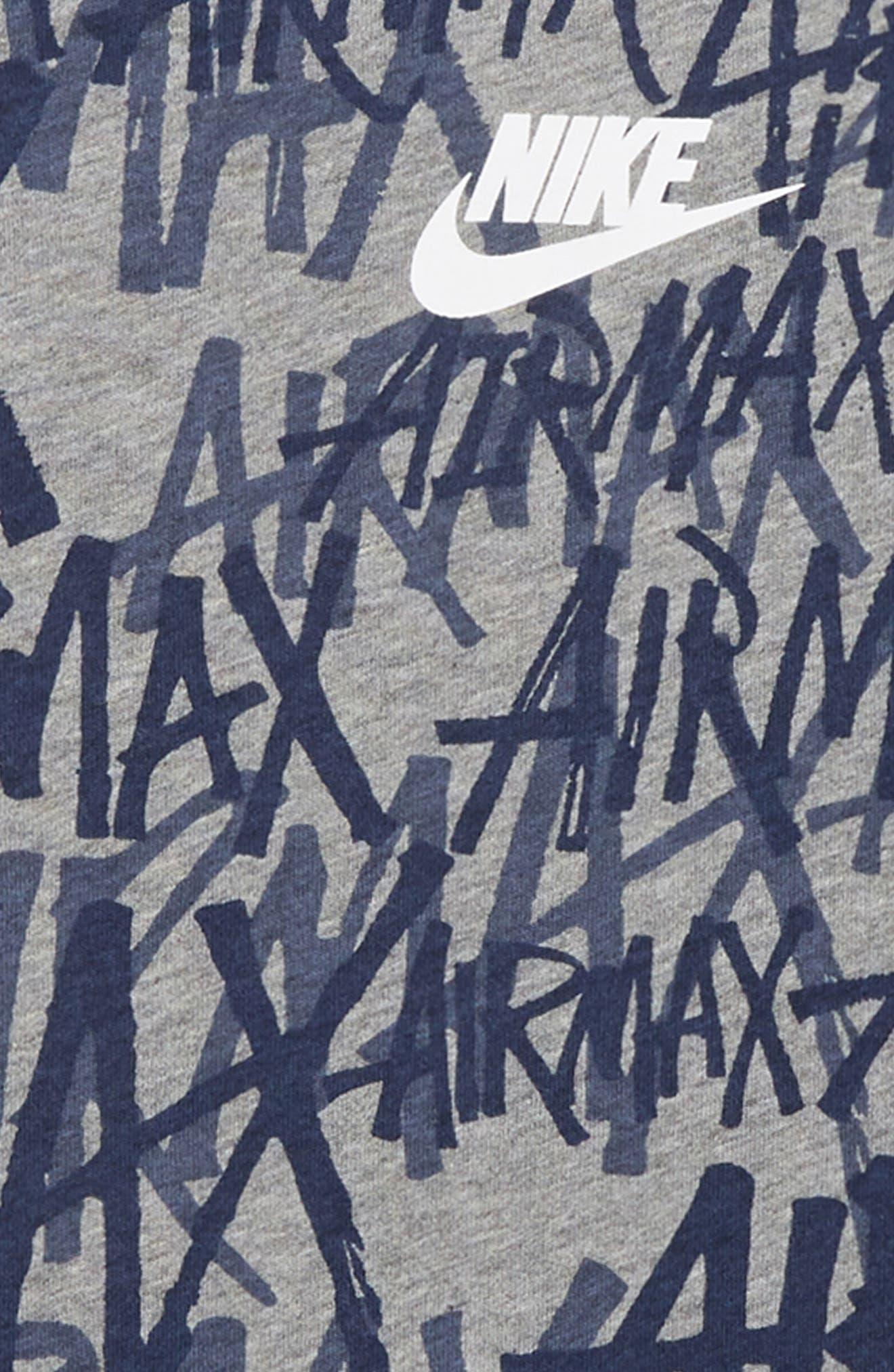 Sportswear Air Max Logo T-Shirt,                             Alternate thumbnail 2, color,                             CARBON HEATHER/ OBSIDIAN