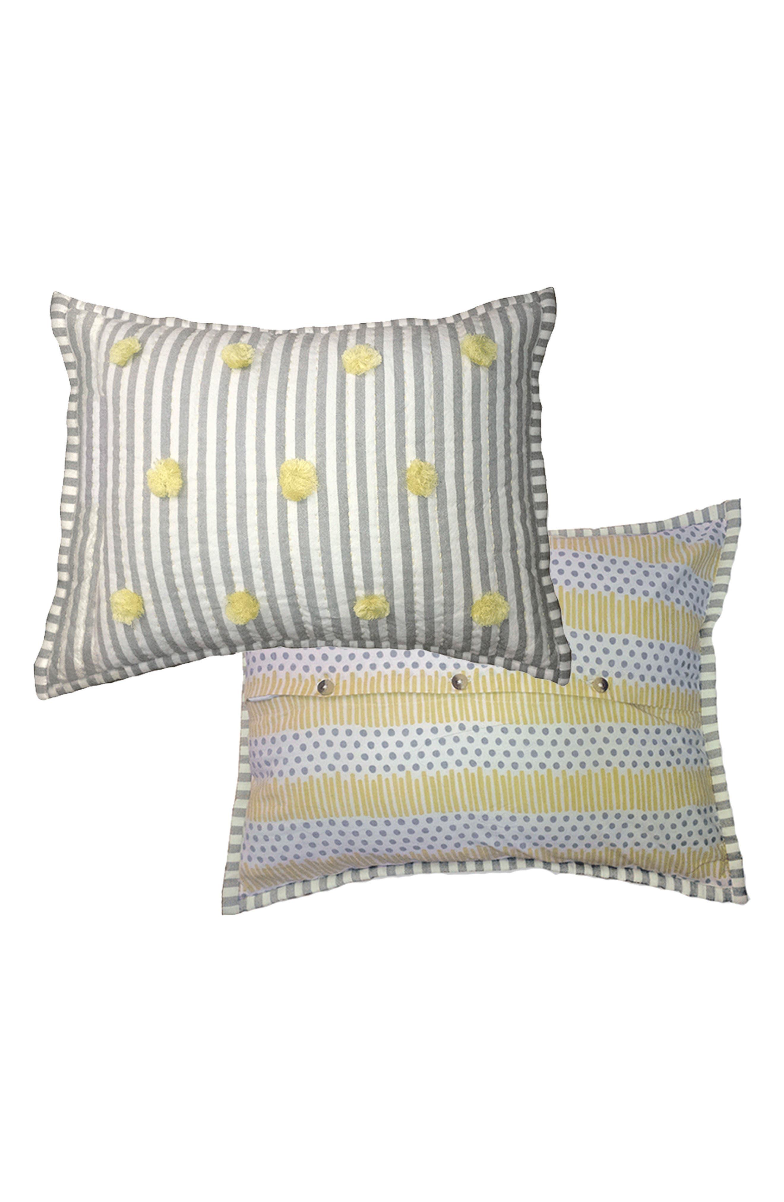 'Rest My Little Head' Cotton Pillow,                             Alternate thumbnail 2, color,                             020
