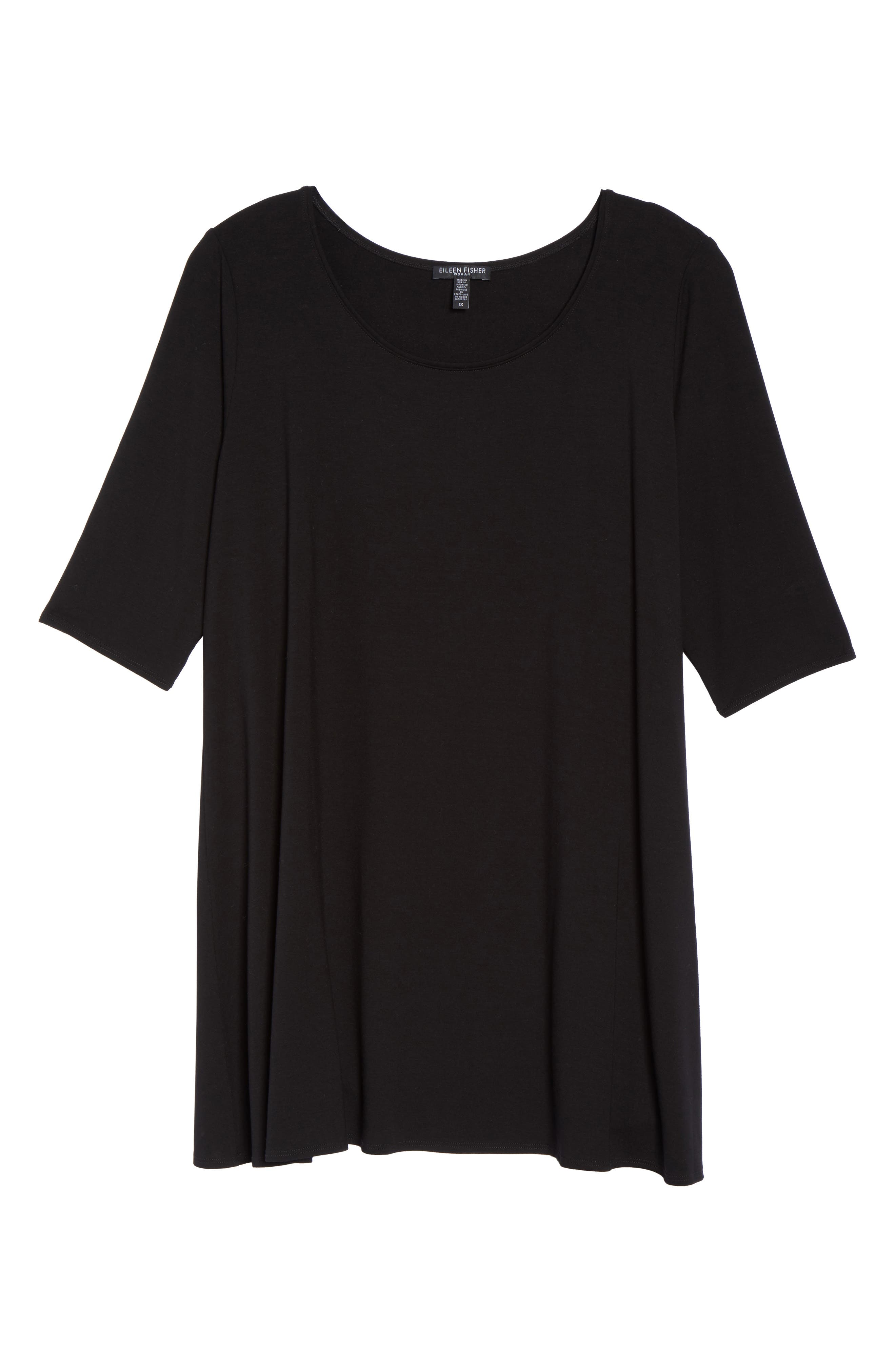 Scoop Neck Jersey Tunic,                             Alternate thumbnail 6, color,                             001
