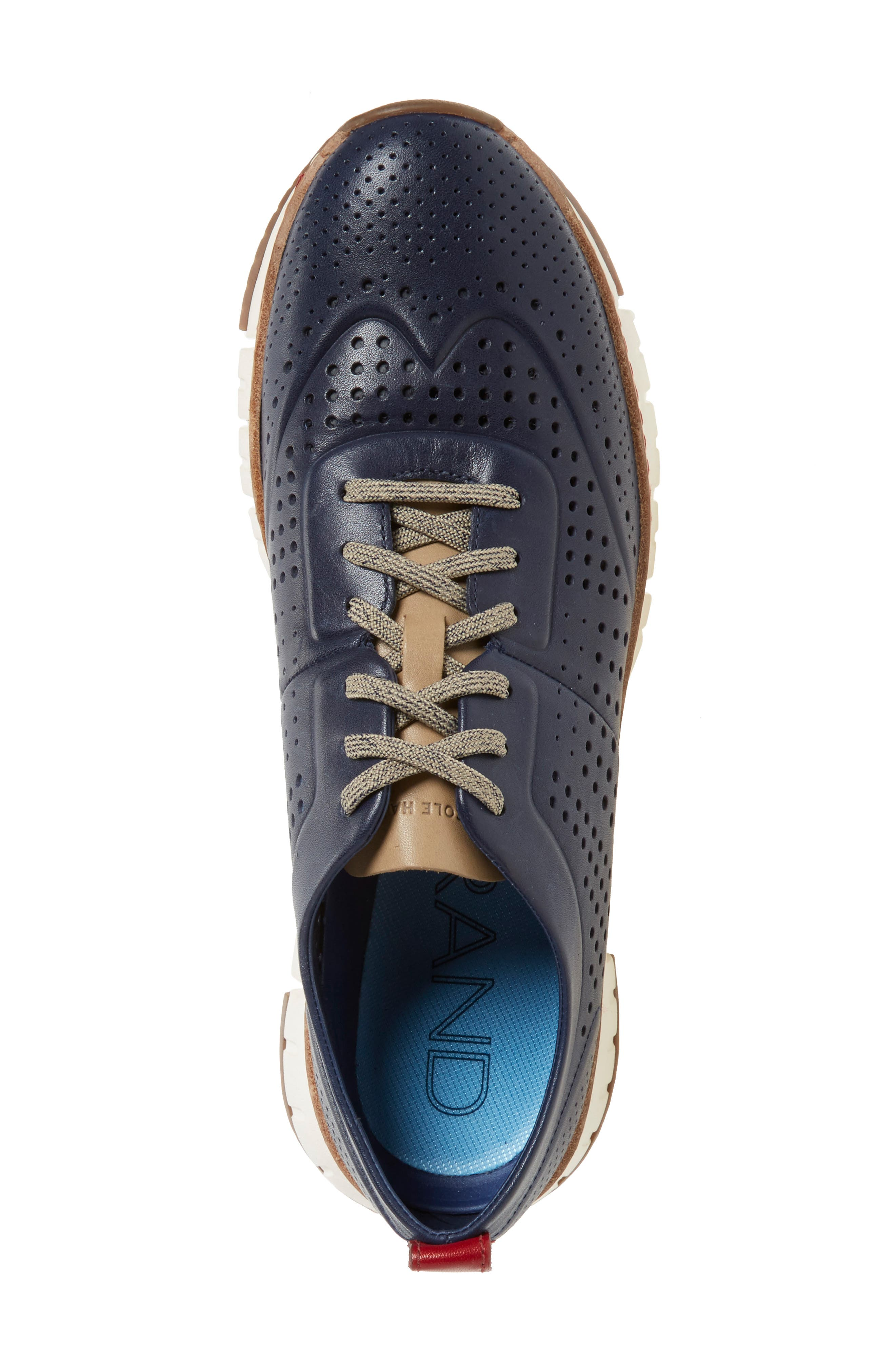 COLE HAAN,                             'ZerøGrand' Perforated Wingtip Sneaker,                             Alternate thumbnail 4, color,                             400
