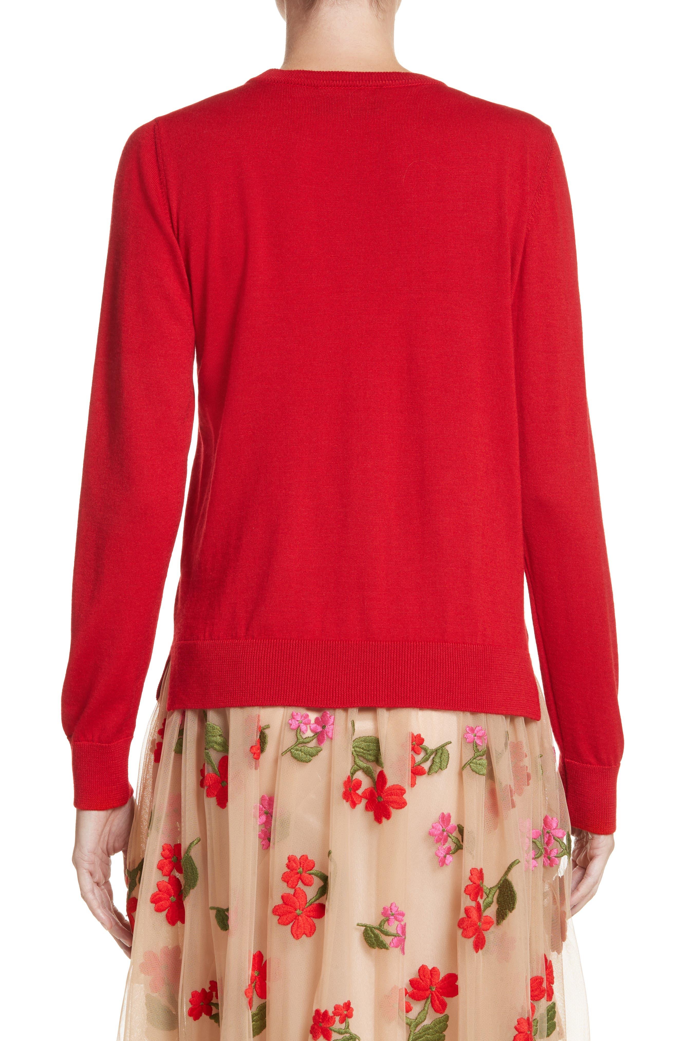 Felted Plait Merino, Silk & Cashmere Button Cardigan,                             Alternate thumbnail 2, color,                             600