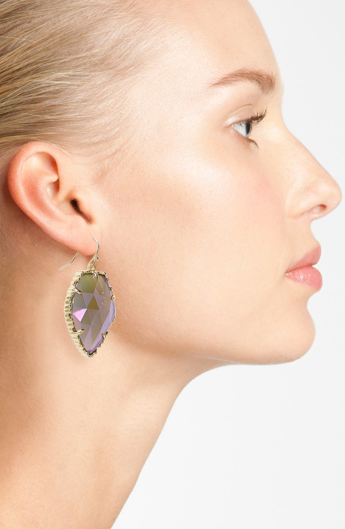'Corley' Faceted Stone Drop Earrings,                             Alternate thumbnail 2, color,                             001