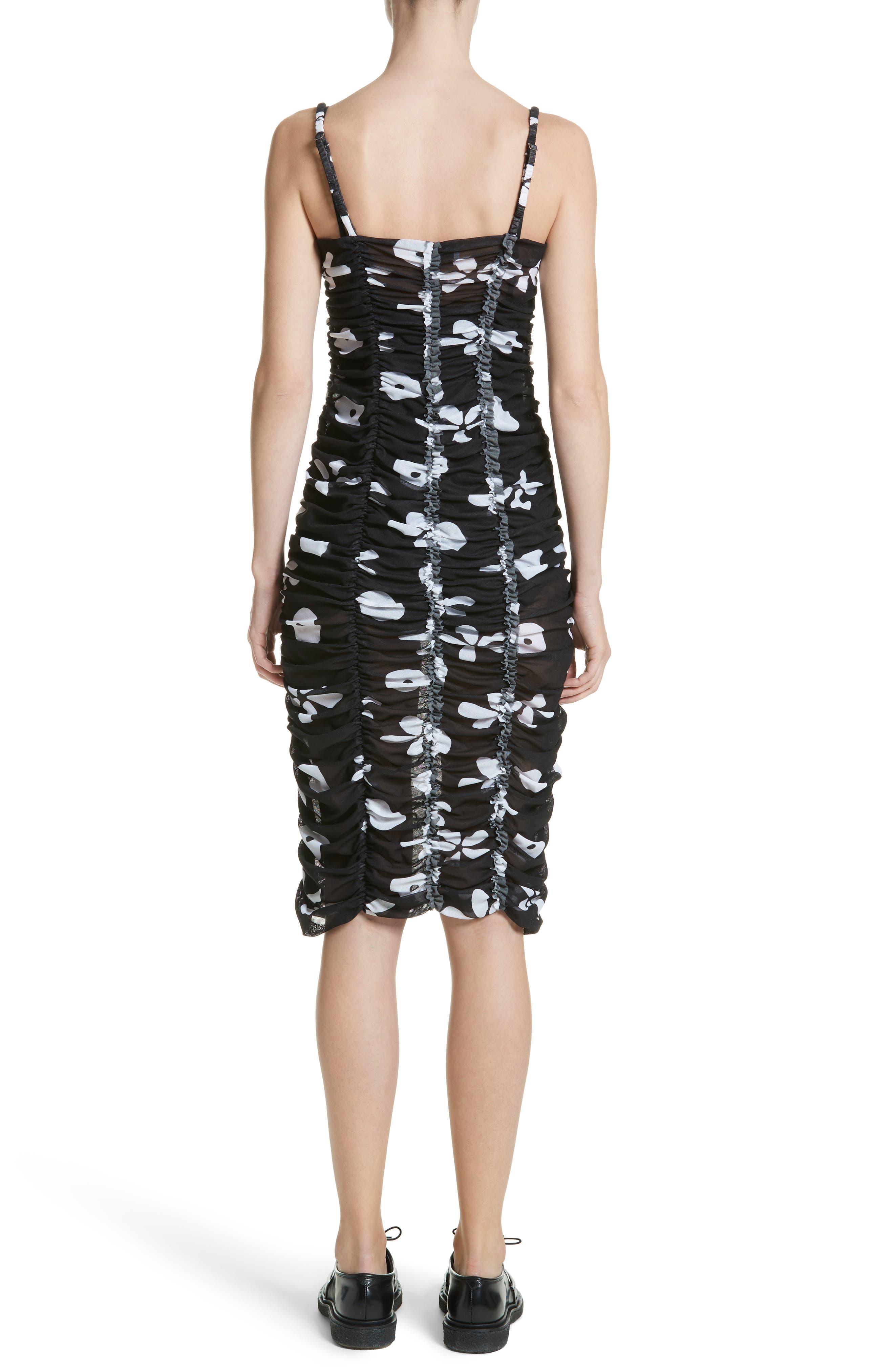 Scarlett Floral Print Mesh Dress,                             Alternate thumbnail 2, color,                             001