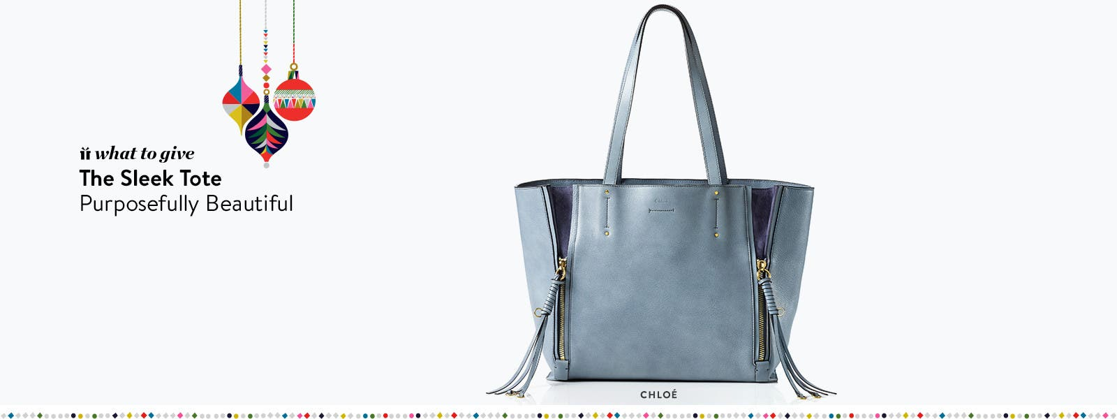 Designer holiday gifts: Chloe tote bag.