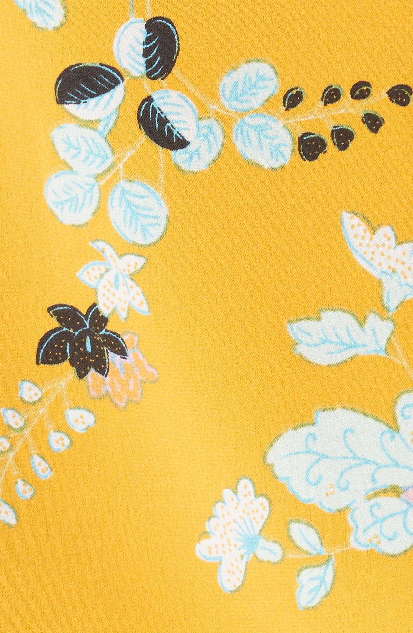 Floral Silk Wrap Blouse,                             Alternate thumbnail 5, color,