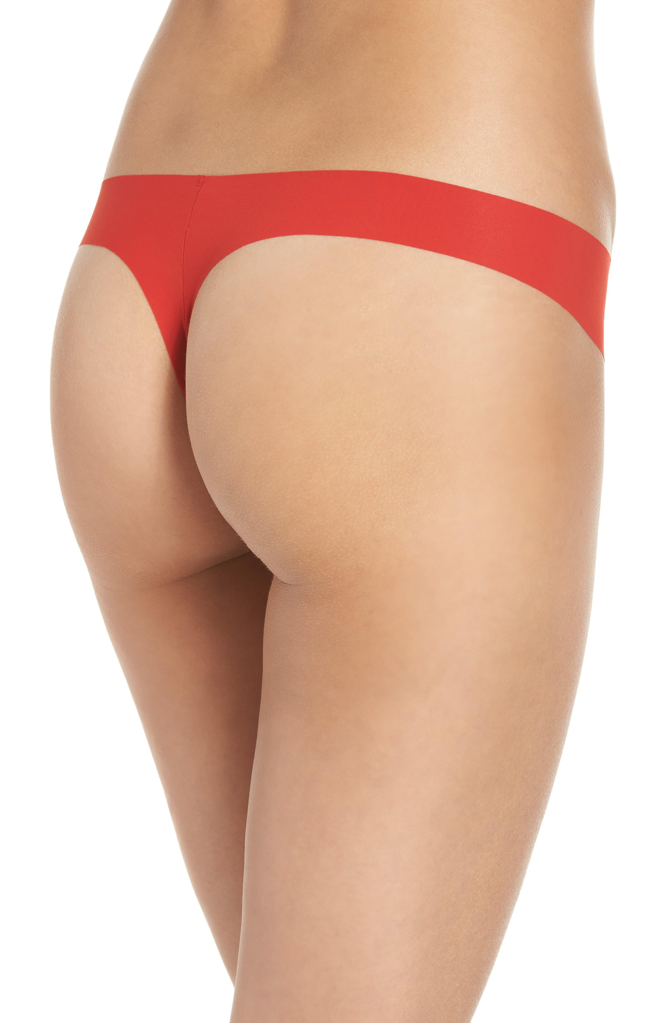 'Invisibles' Thong,                             Alternate thumbnail 3, color,                             MANIC RED