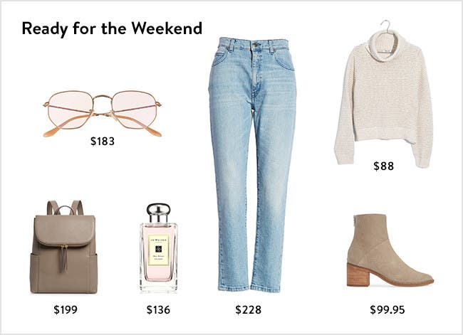 Ready for the weekend: women's clothing, shoes, handbags, perfume and more.