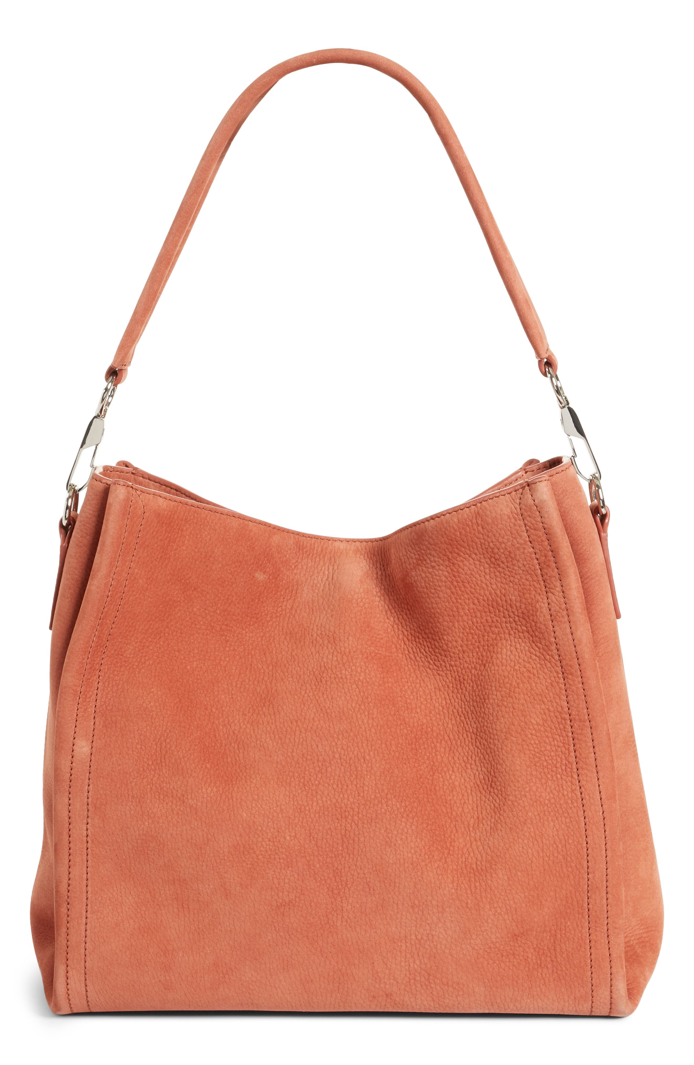 Darcy Pebbled Leather Hobo,                             Main thumbnail 1, color,                             200