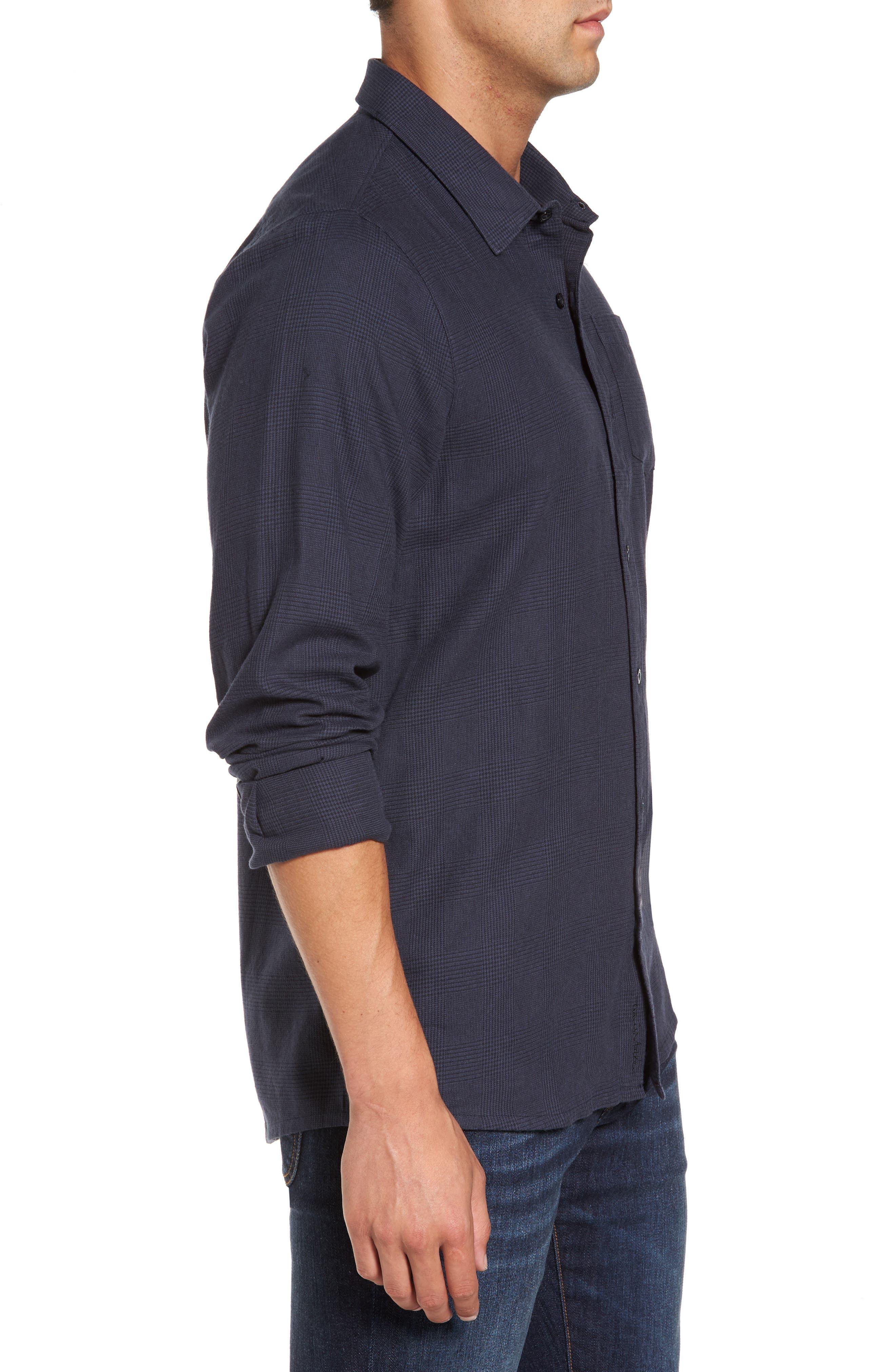 Overly Glen Plaid Sport Shirt,                             Alternate thumbnail 3, color,                             400